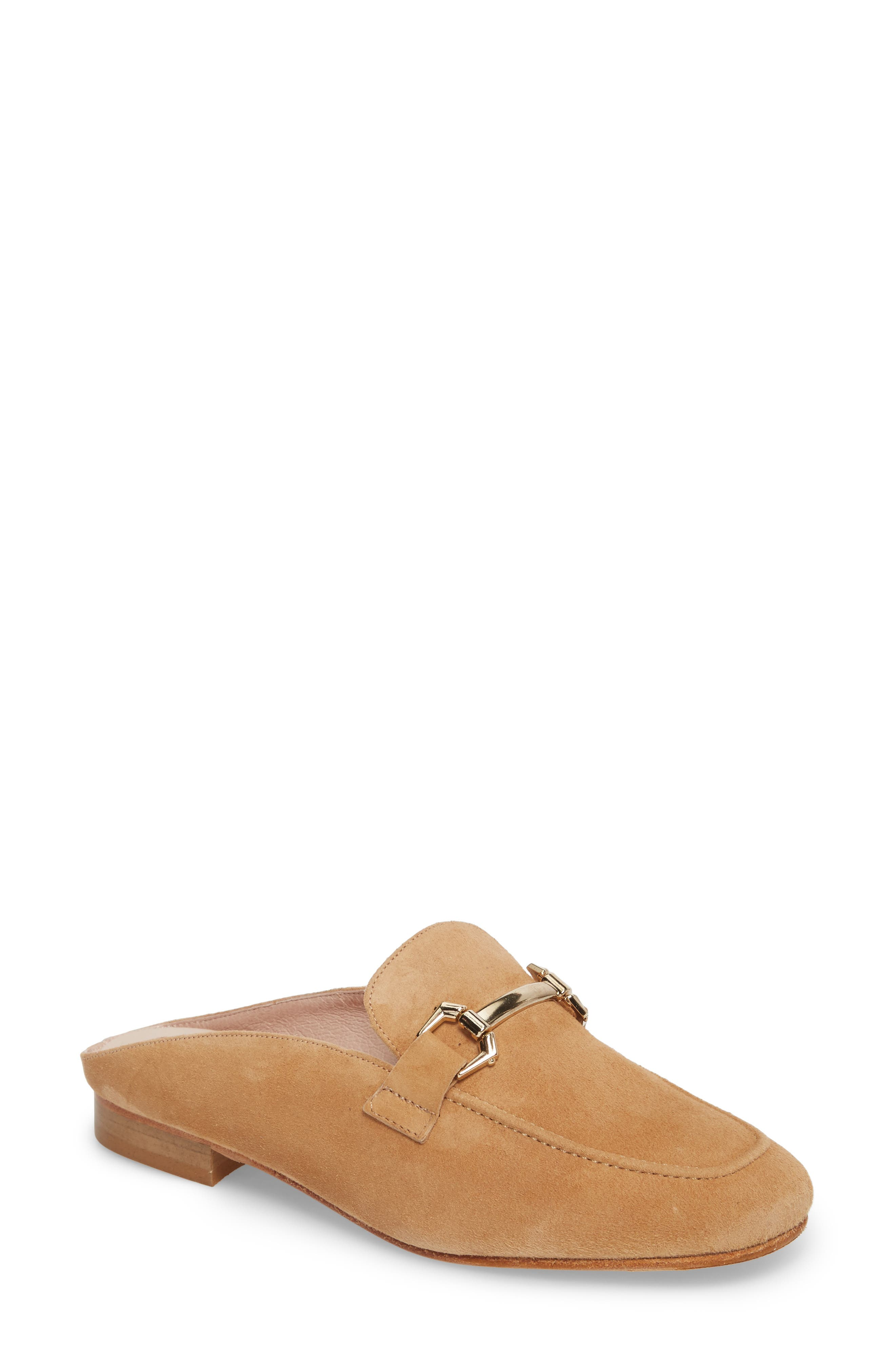 Sorrento Too Mule,                             Main thumbnail 1, color,                             Camel Suede