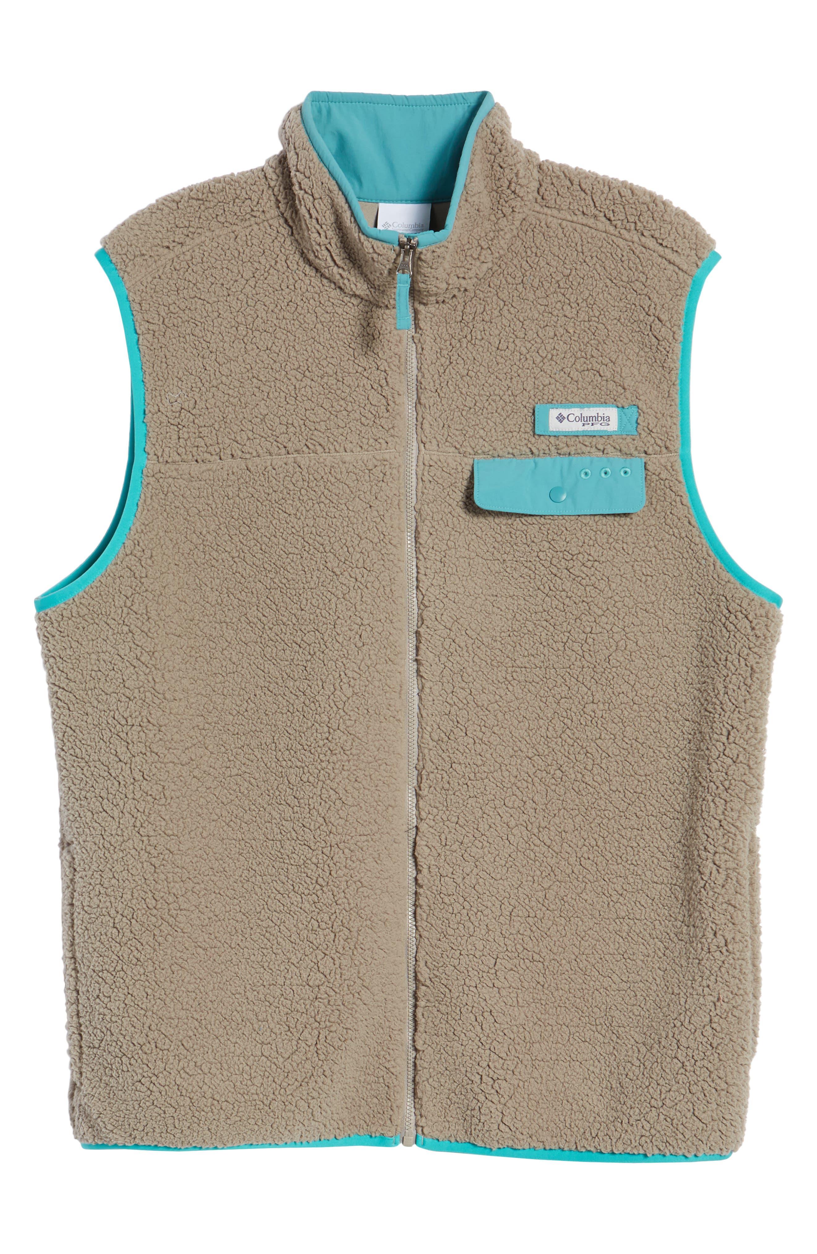 Sportswear Harborside Heavyweight Fleece Vest,                             Alternate thumbnail 6, color,                             Kettle/ Teal