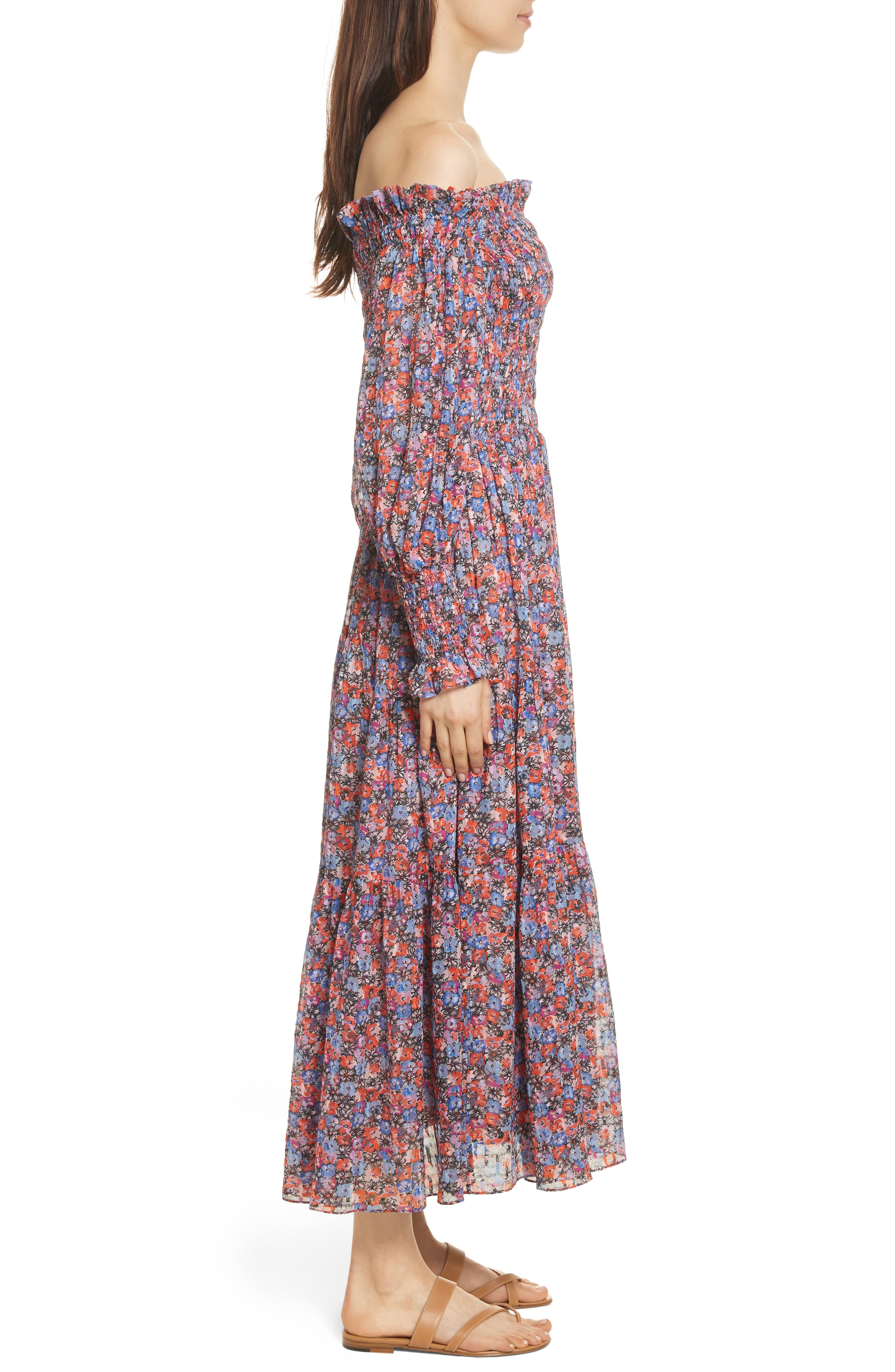 Alternate Image 4  - Rebecca Taylor Cosmic Fleur Maxi Dress