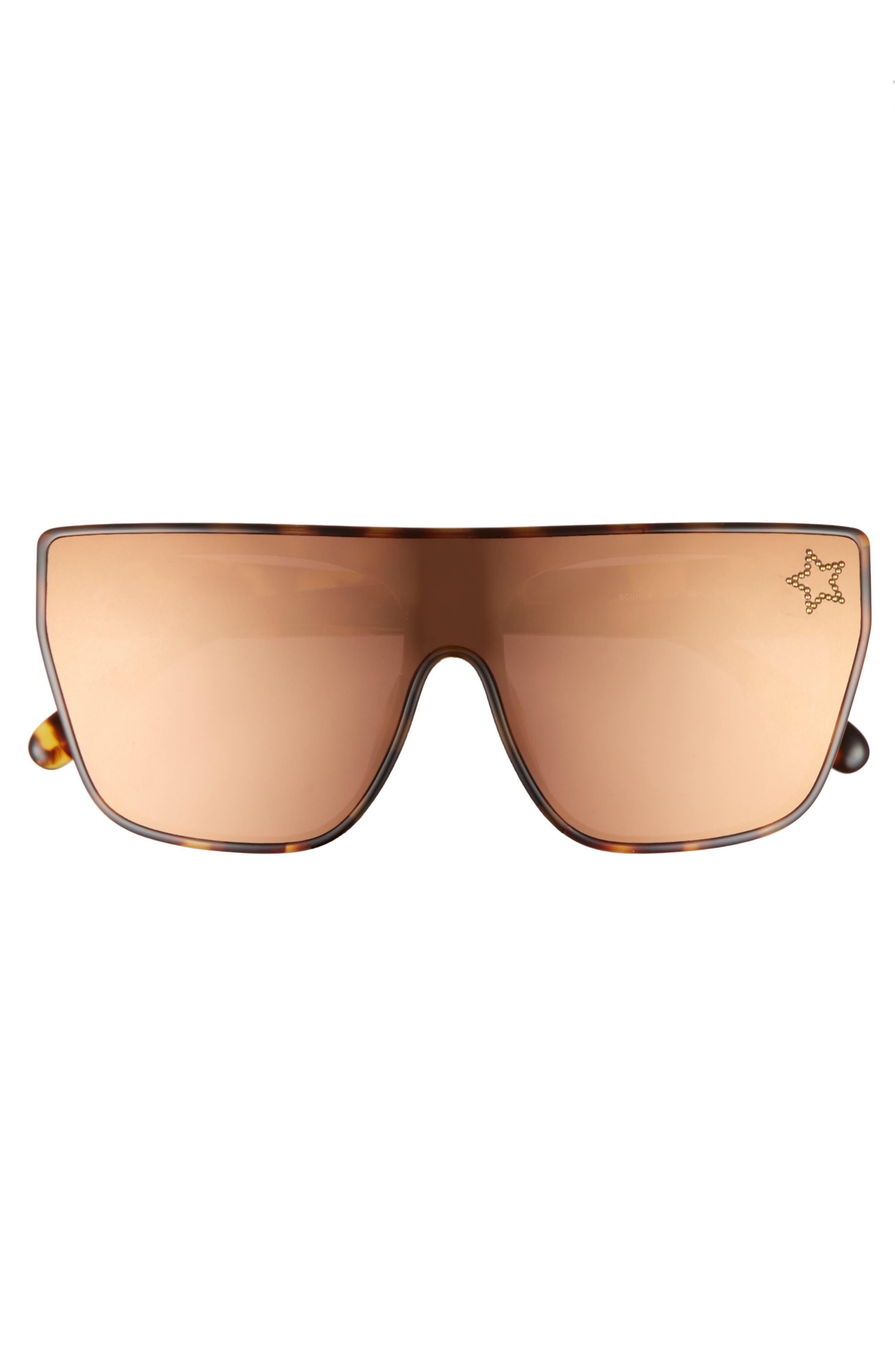 99mm Flat Top Sunglasses,                             Alternate thumbnail 3, color,                             Blonde Avana