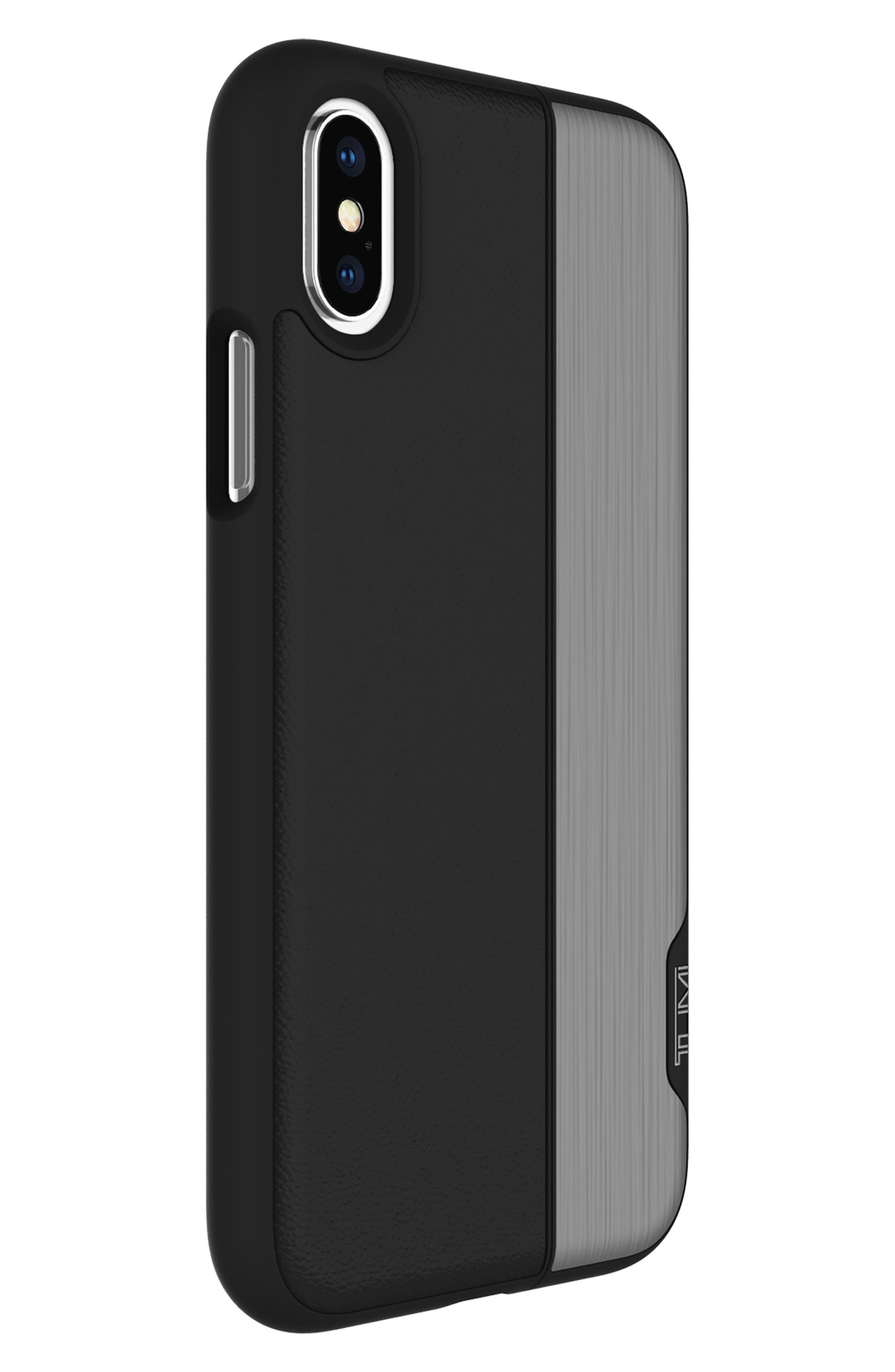 Vertical Slider iPhone X Case,                             Alternate thumbnail 4, color,                             Black Gunmetal