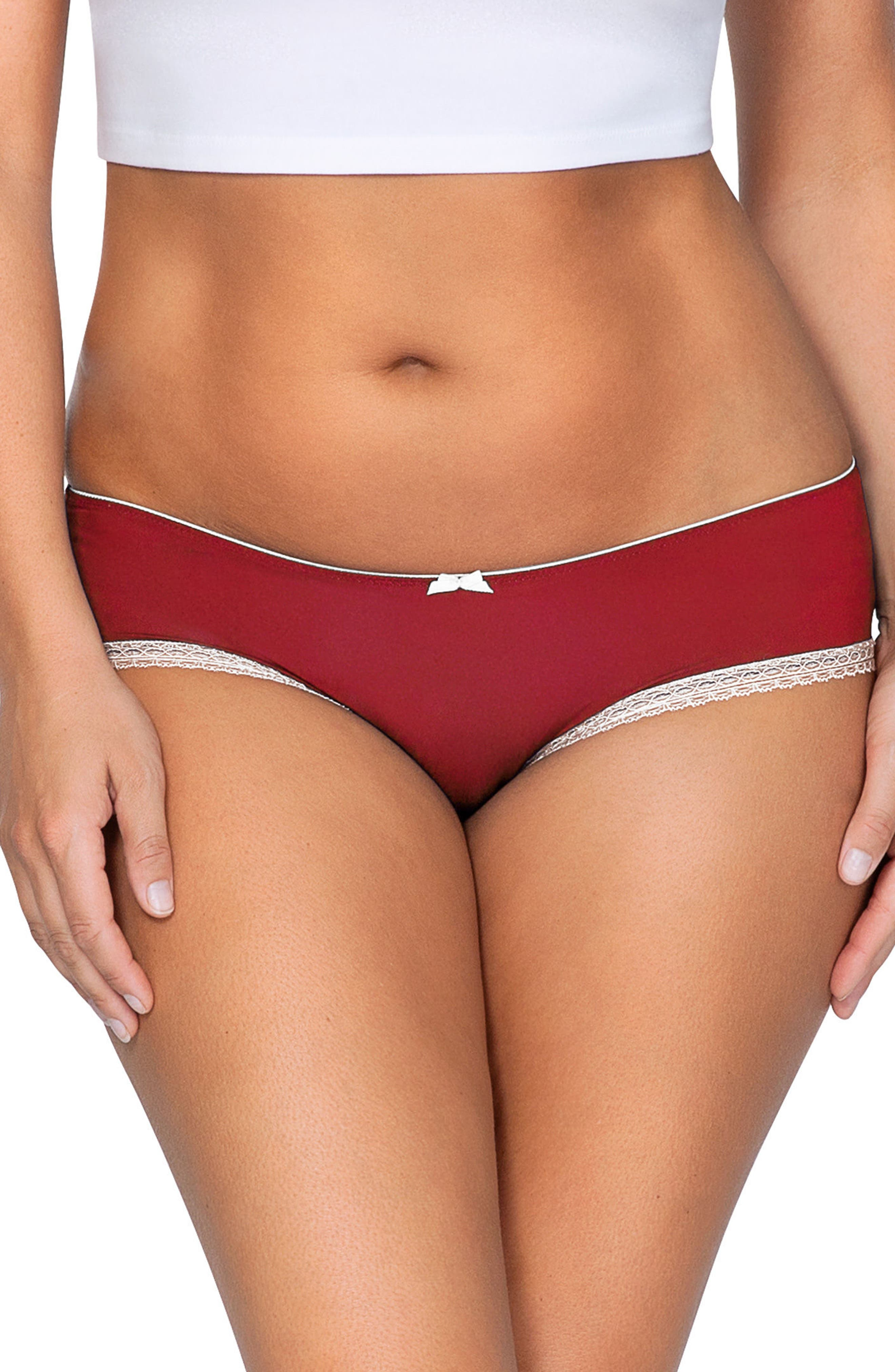 Cheeky Hipster Briefs,                         Main,                         color, Tango Red