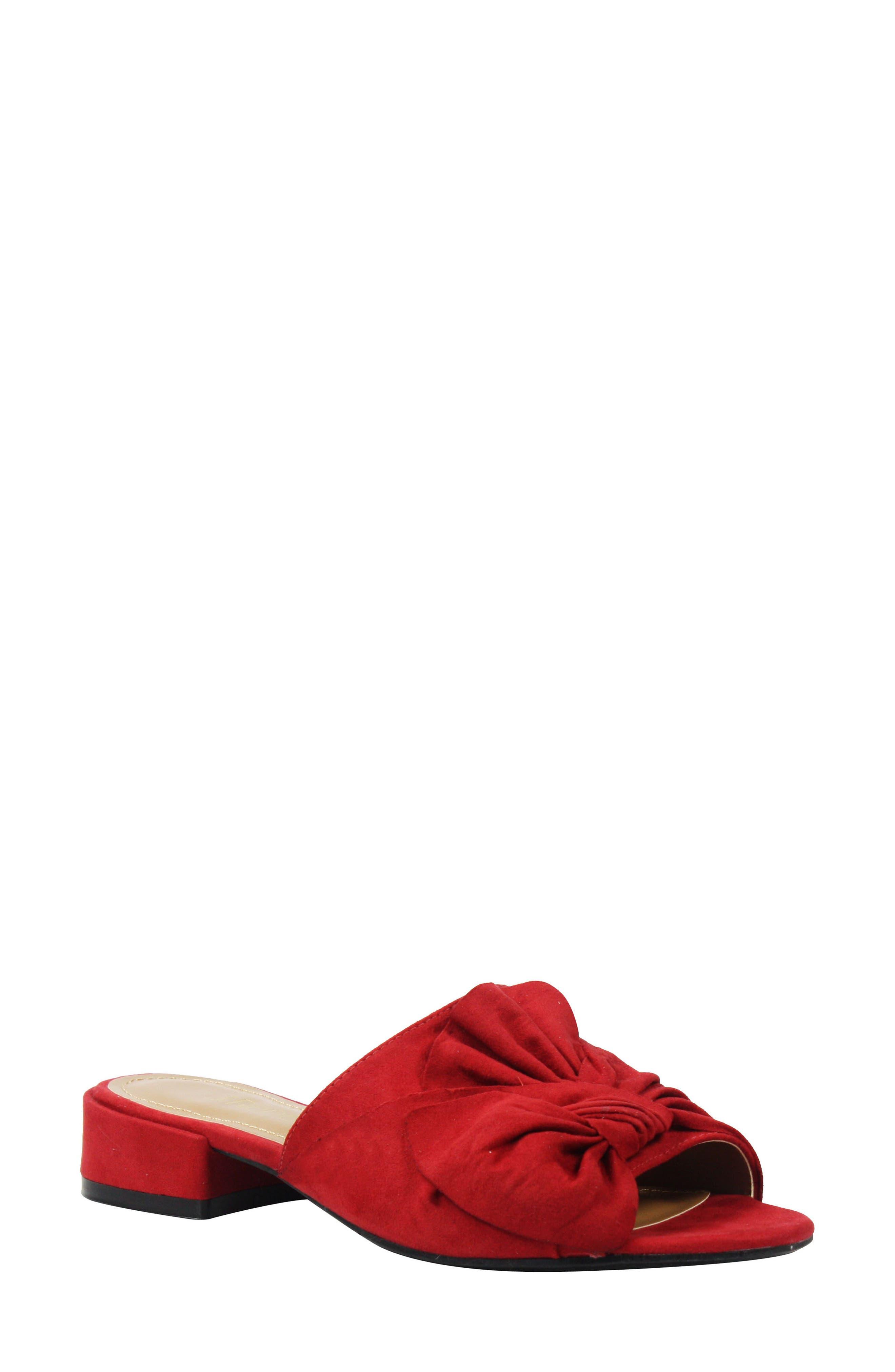 Sattuck Slide Sandal,                         Main,                         color, Red Fabric