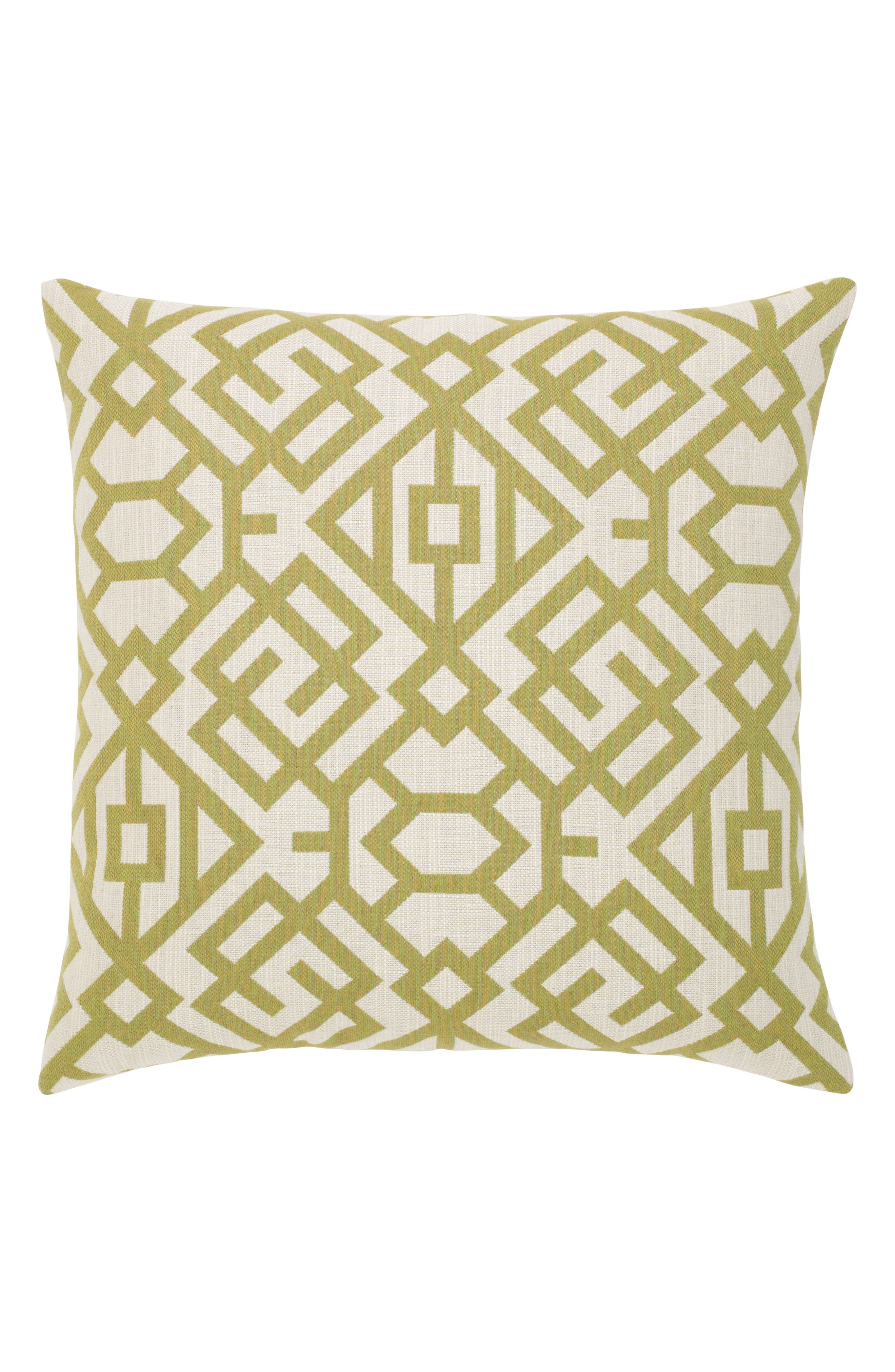 Fern Gate Indoor/Outdoor Accent Pillow,                         Main,                         color, Green