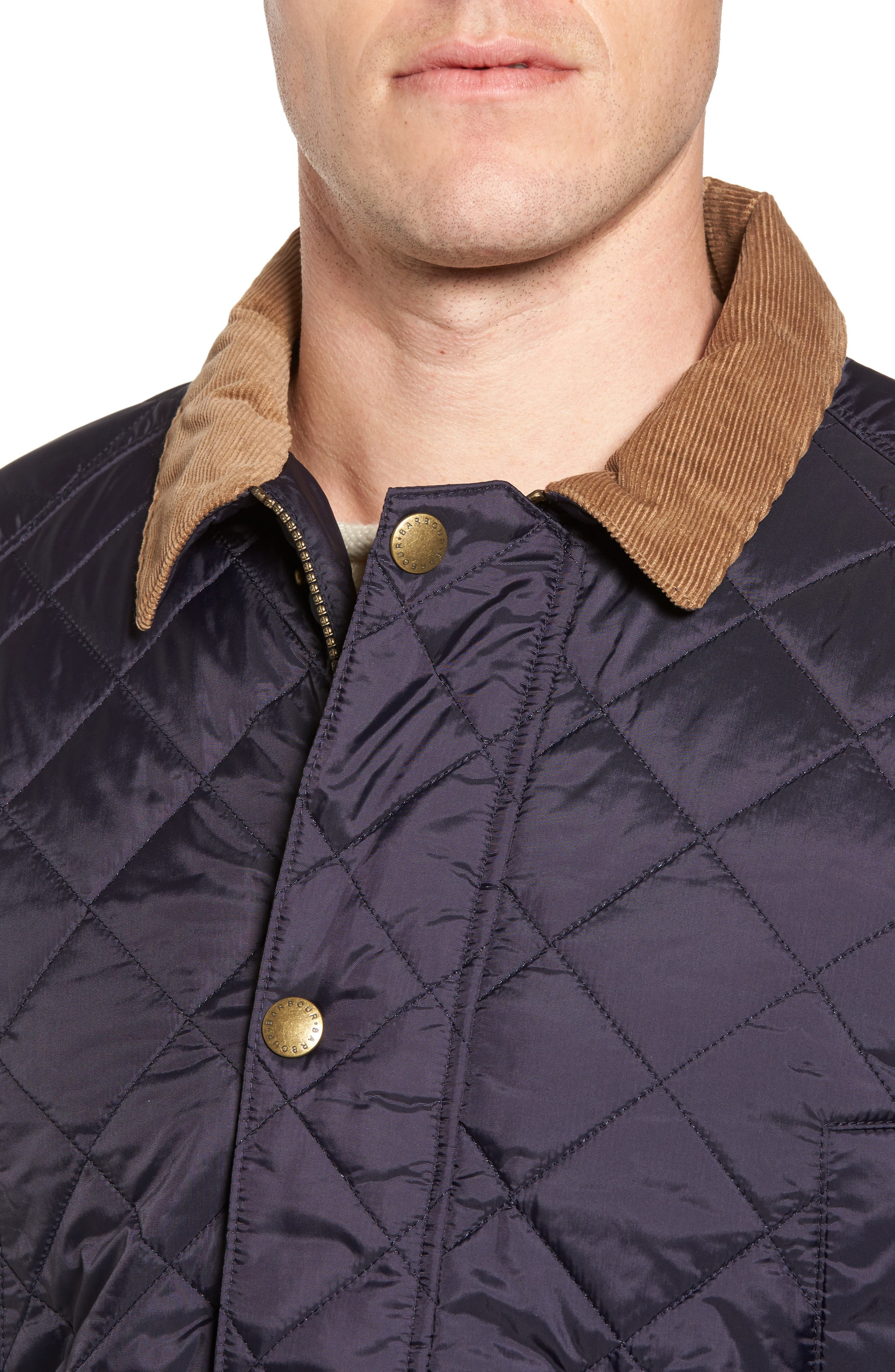 'Canterdale' Slim Fit Water-Resistant Diamond Quilted Jacket,                             Alternate thumbnail 4, color,                             Navy