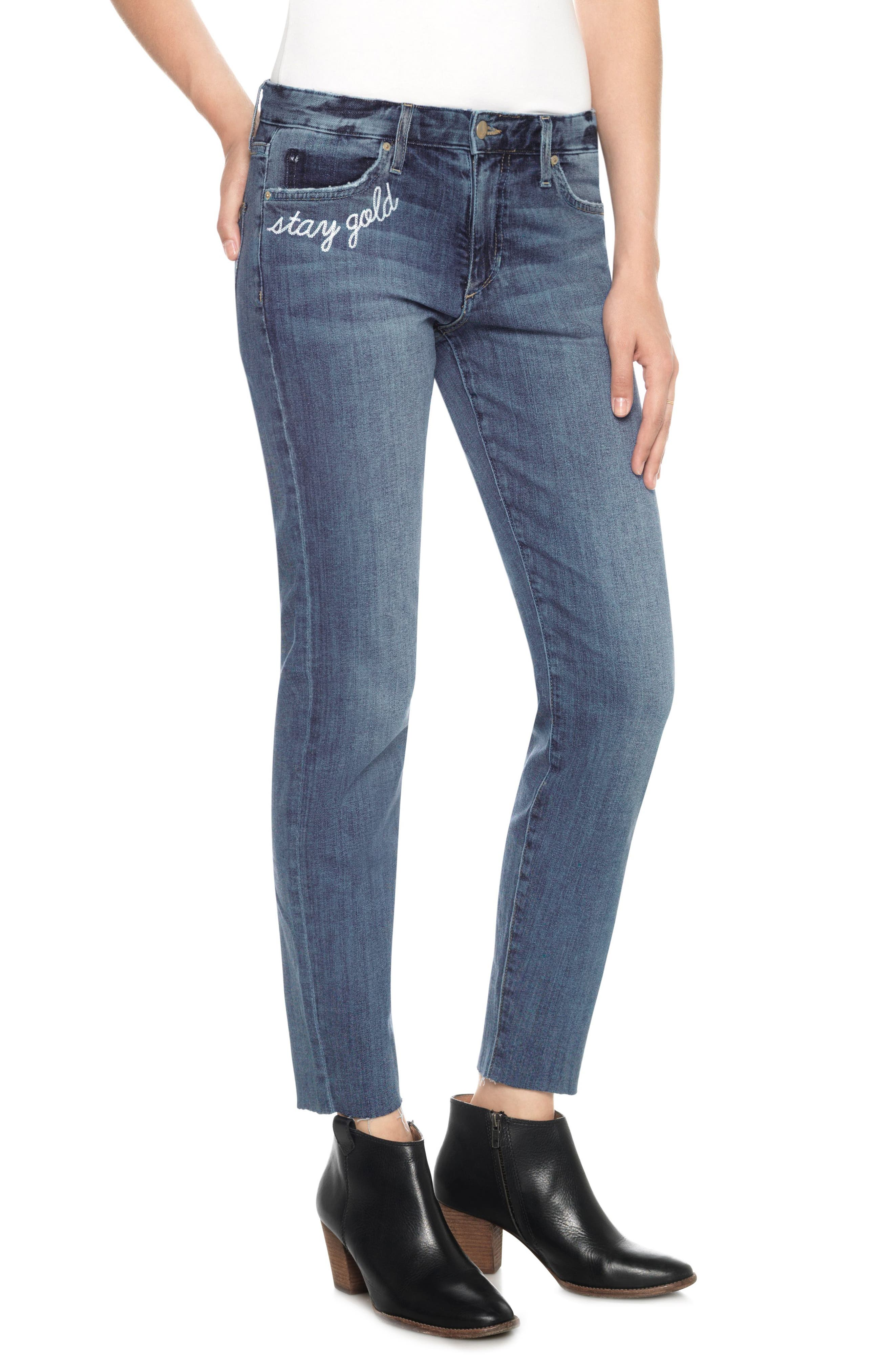 The Smith Stay Gold Ankle Jeans,                             Main thumbnail 1, color,                             Clenna