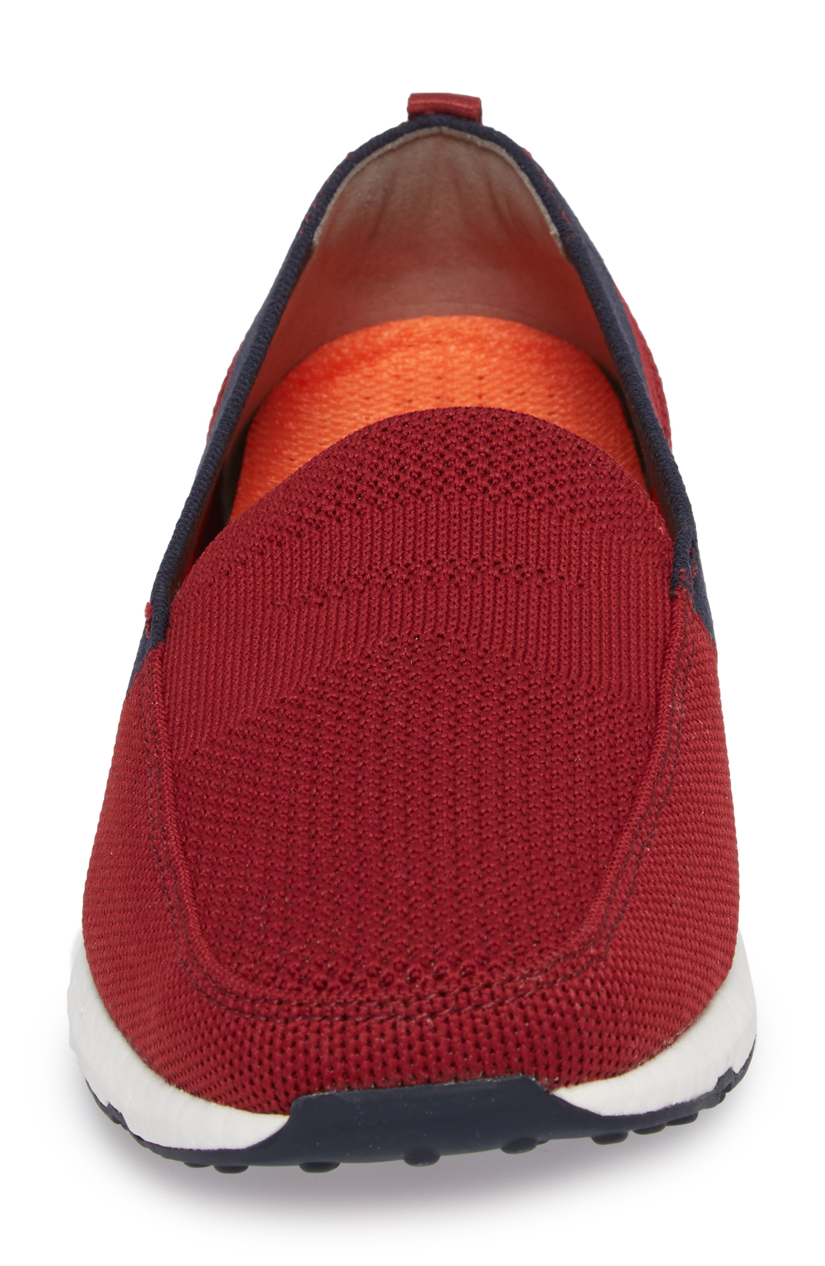 Breeze Leap Penny Loafer,                             Alternate thumbnail 4, color,                             Deep Red/ Navy