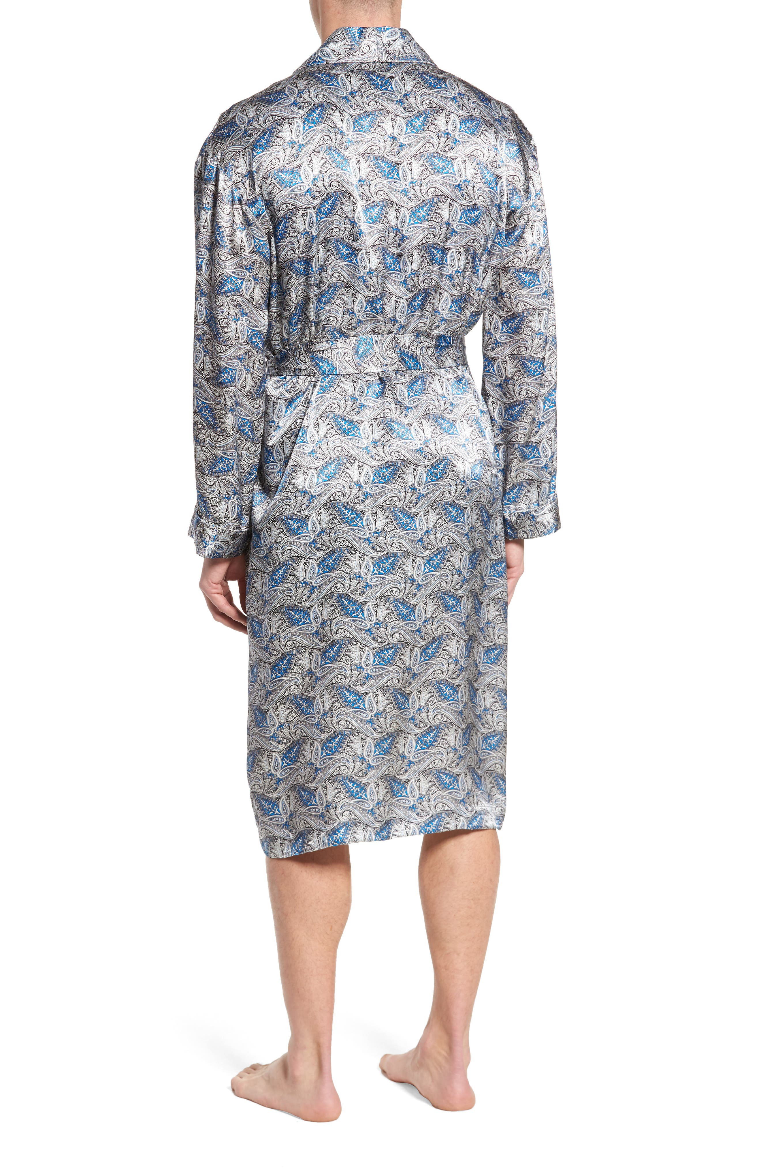 Alternate Image 2  - Majestic International 'Cypress' Silk Dot Robe