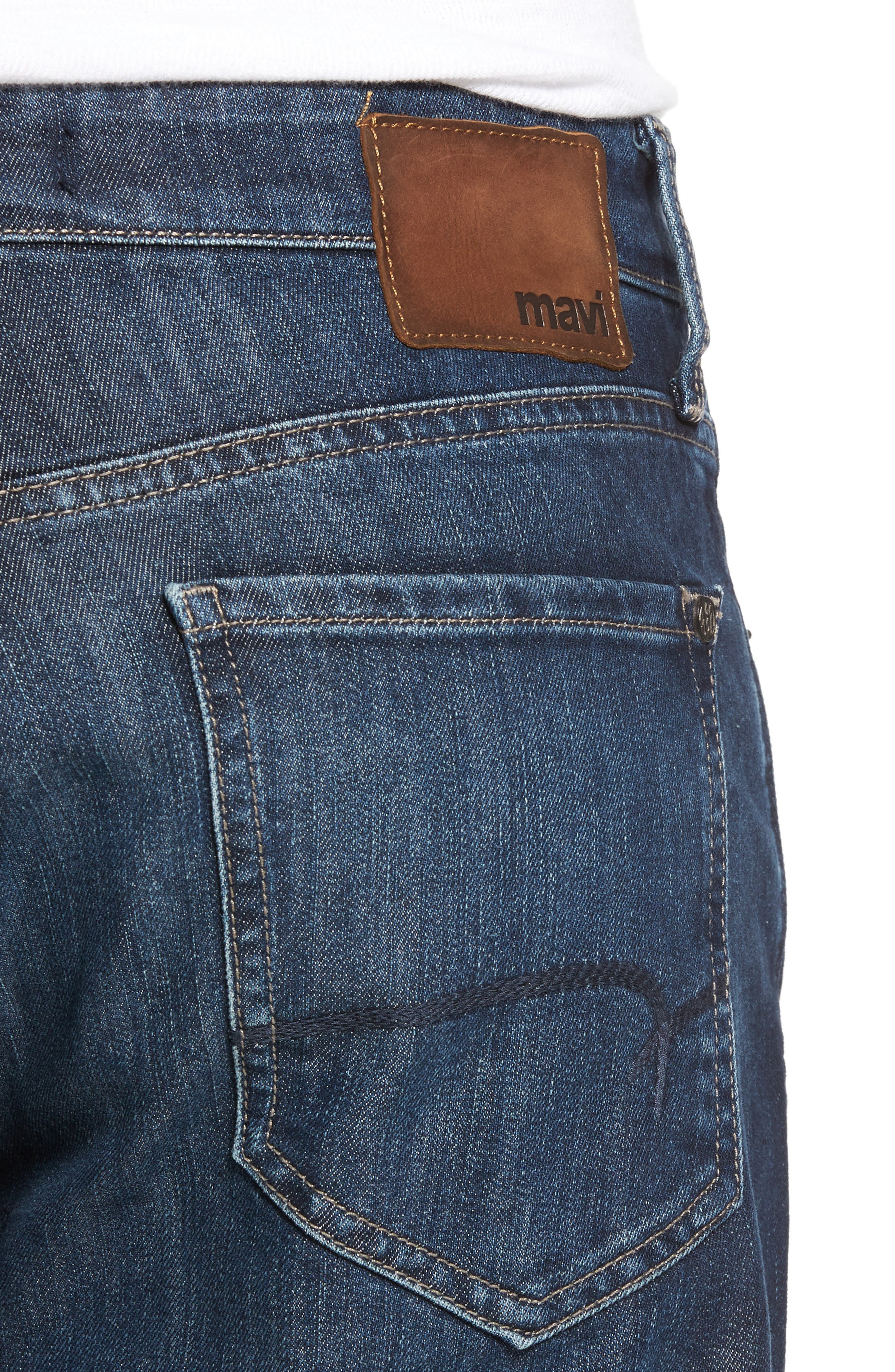 Myles Straight Leg Jeans,                             Alternate thumbnail 4, color,                             Deep Brushed Stanford