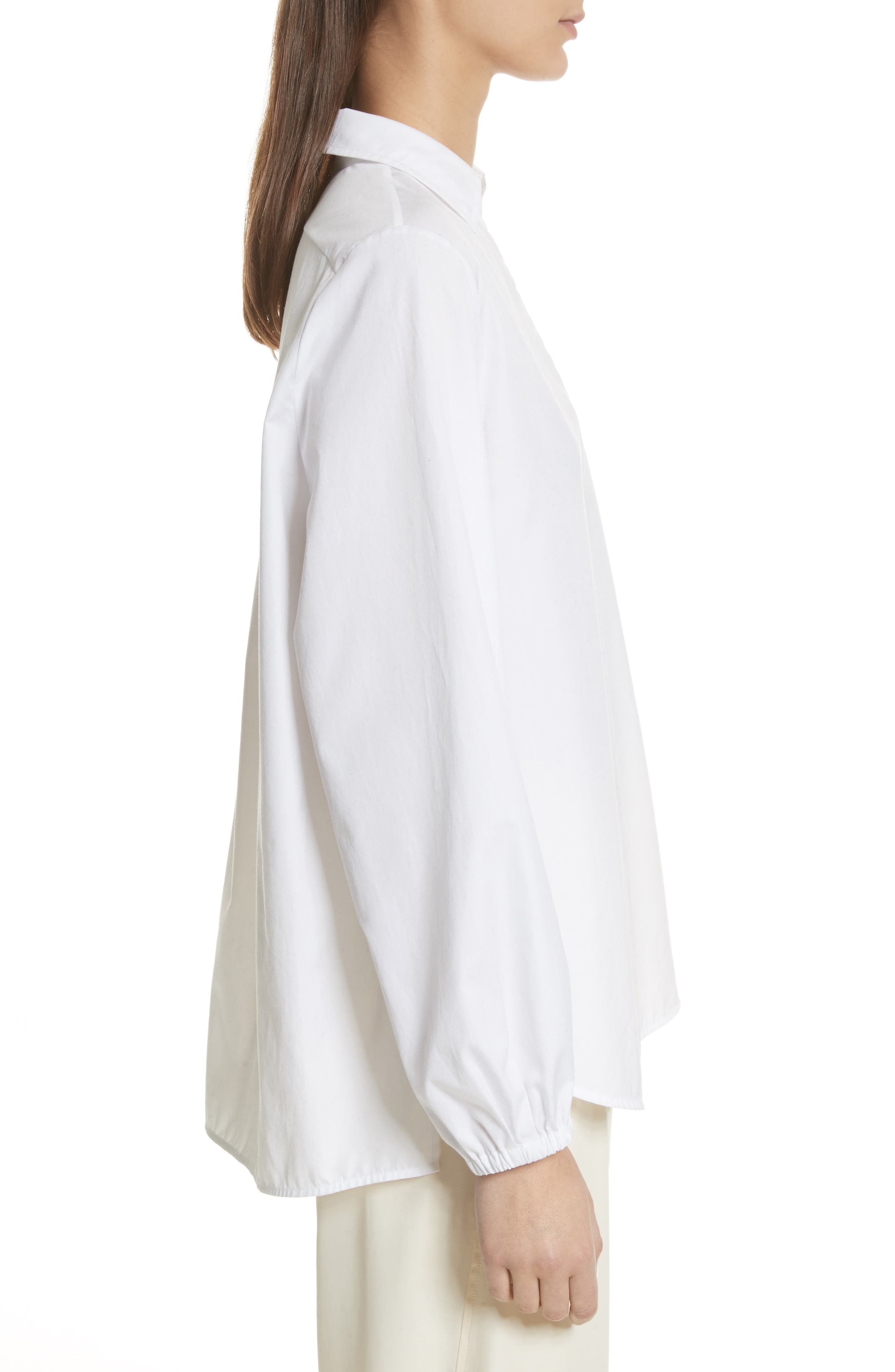 Swing Front Pullover Shirt,                             Alternate thumbnail 3, color,                             Optic White