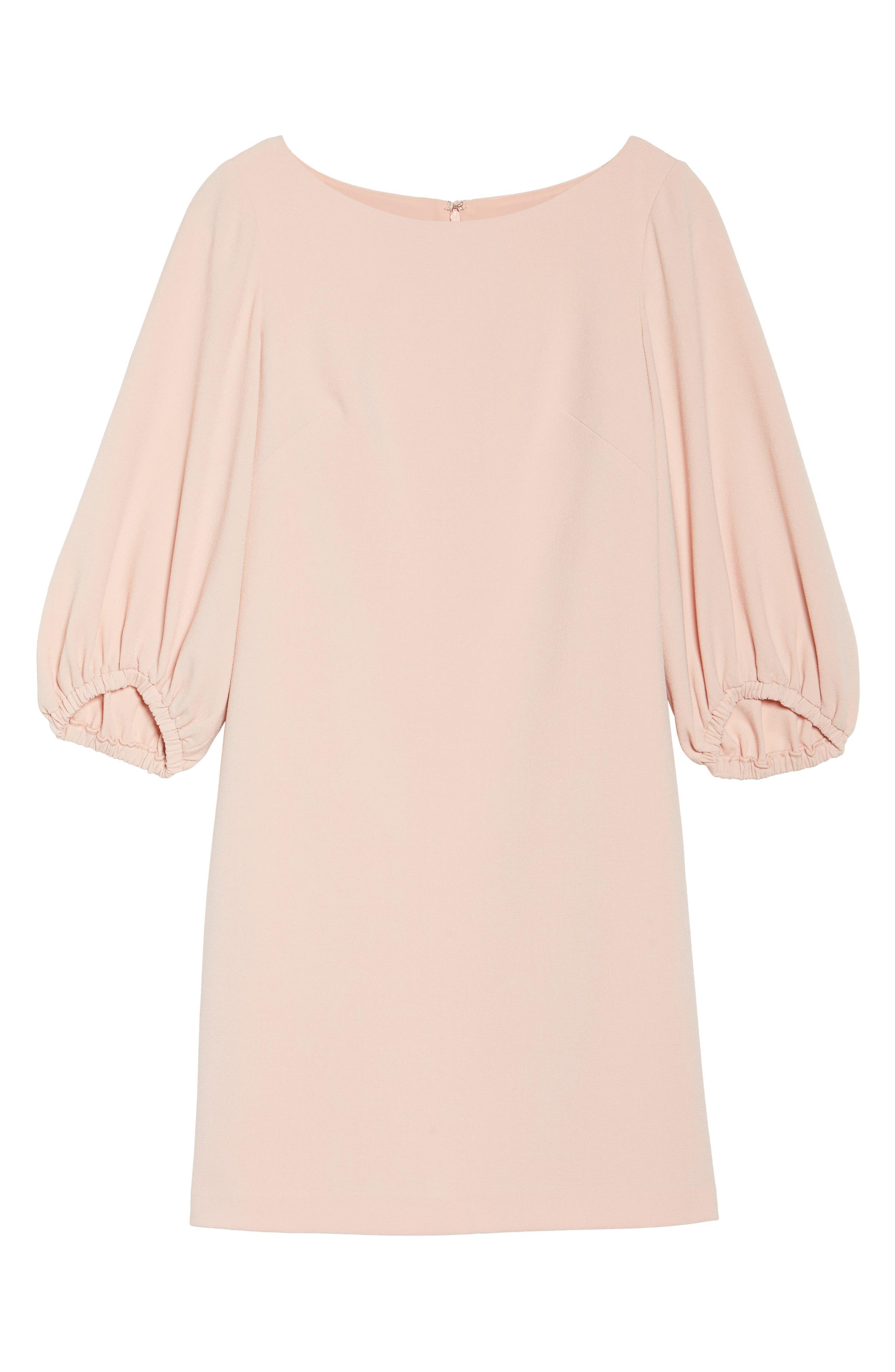 Bloused Sleeve Shift Dress,                             Alternate thumbnail 6, color,                             Blush