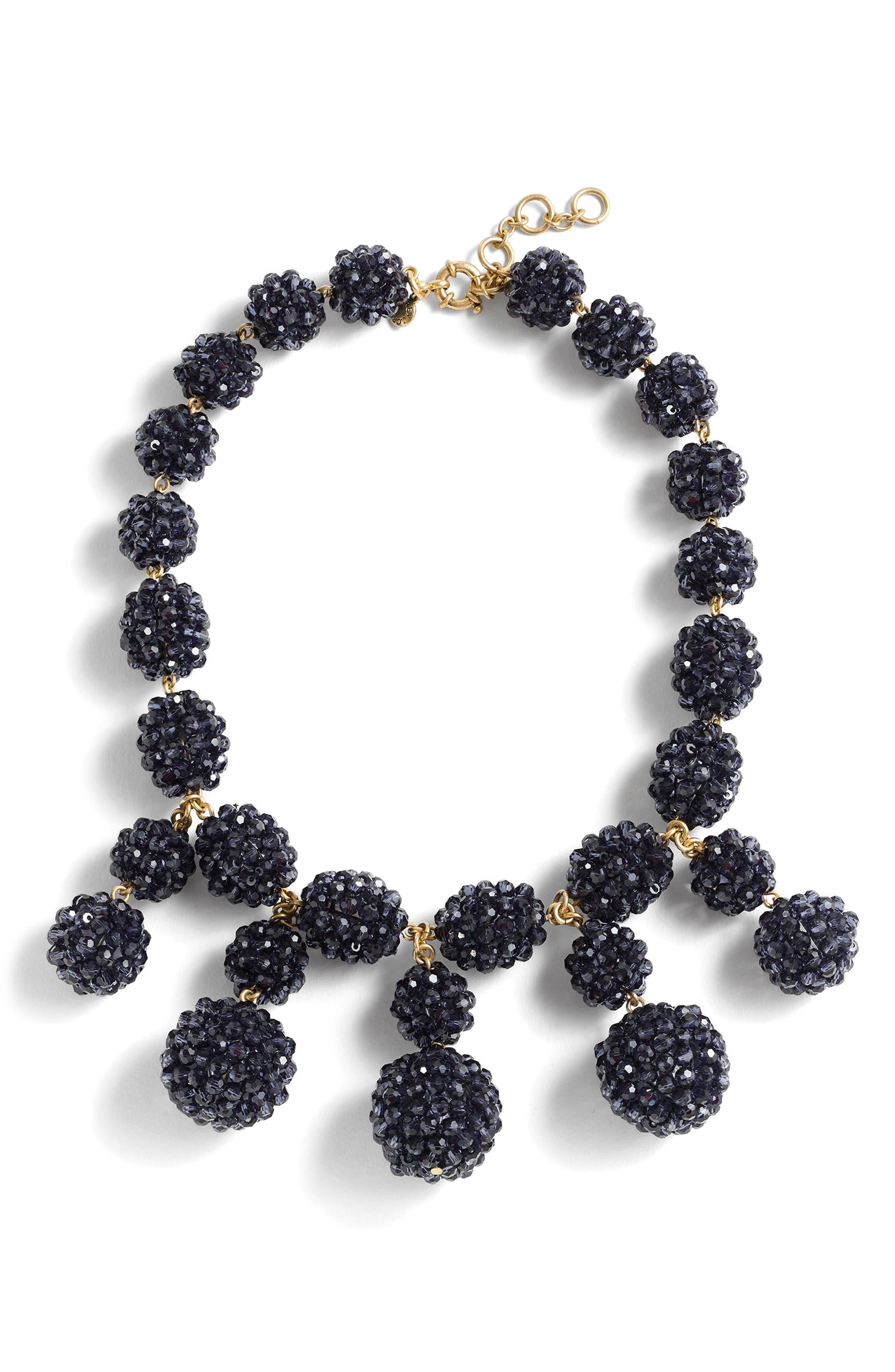 Blackberry Necklace,                         Main,                         color, Vintage Indigo