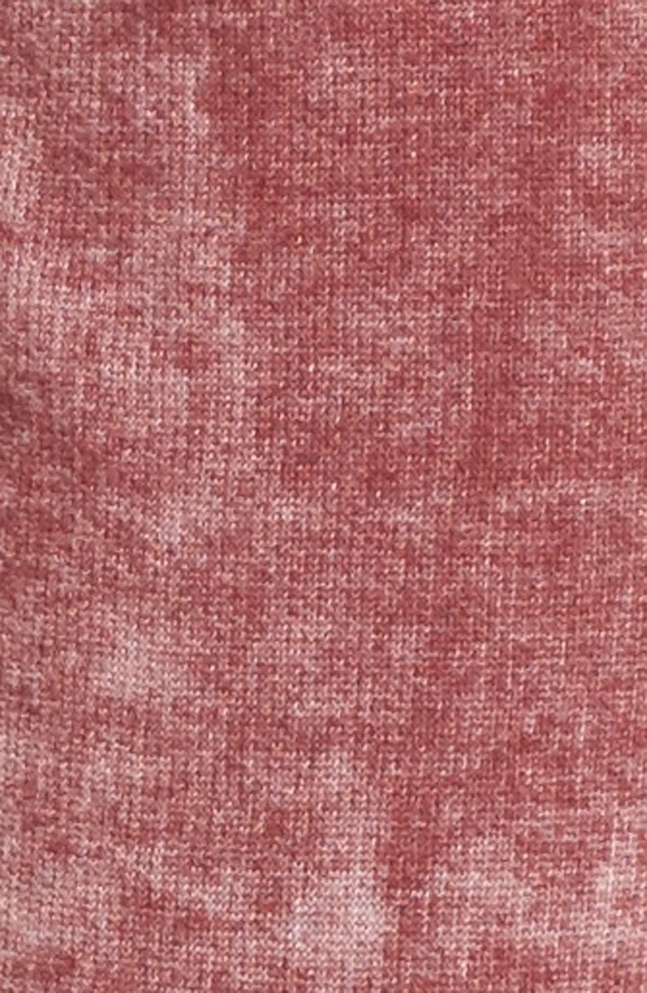 Grommet Detail Jogger Pants,                             Alternate thumbnail 5, color,                             Burgundy