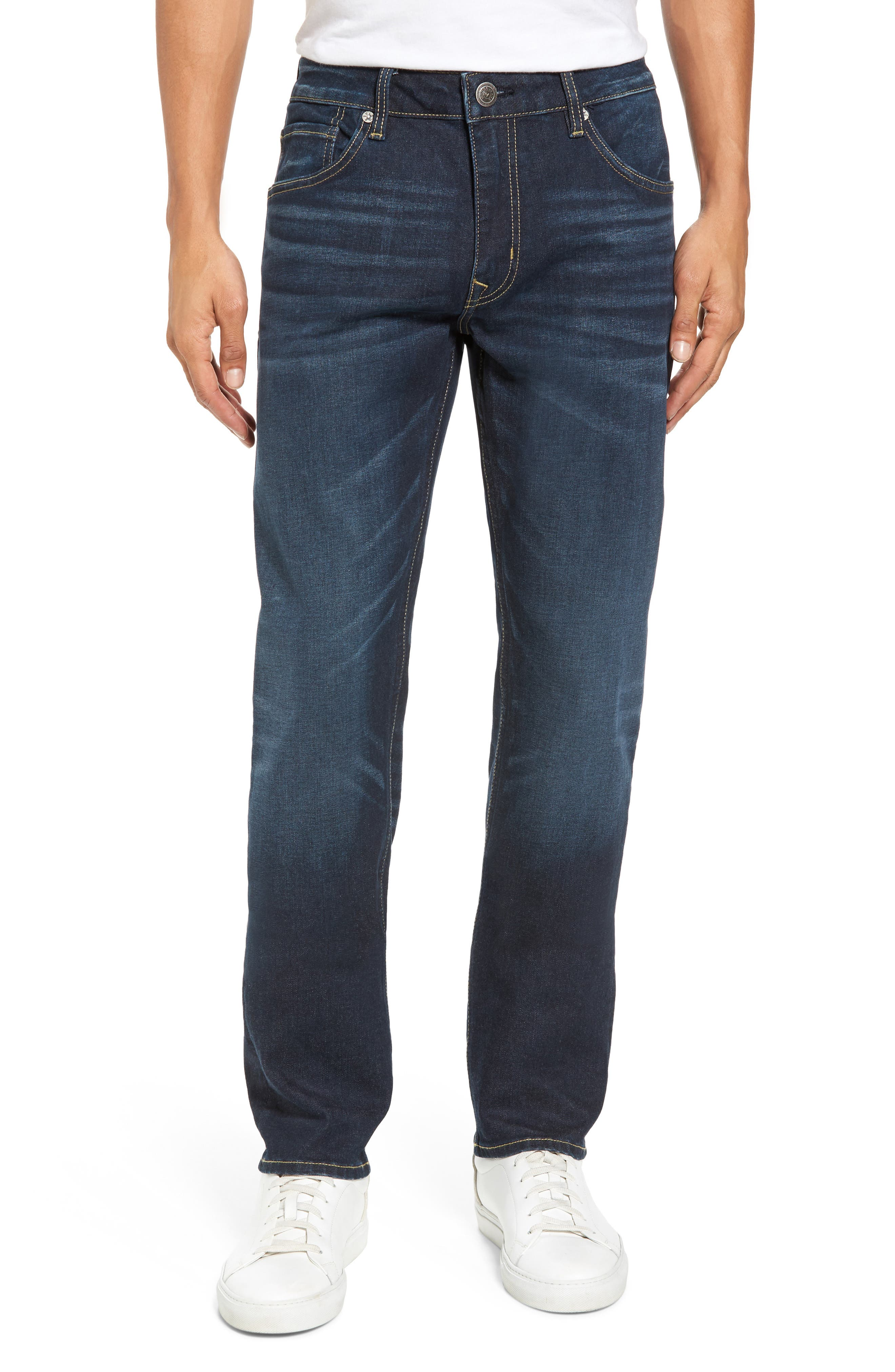 Slim Straight Leg Jeans,                         Main,                         color, Medium Wash