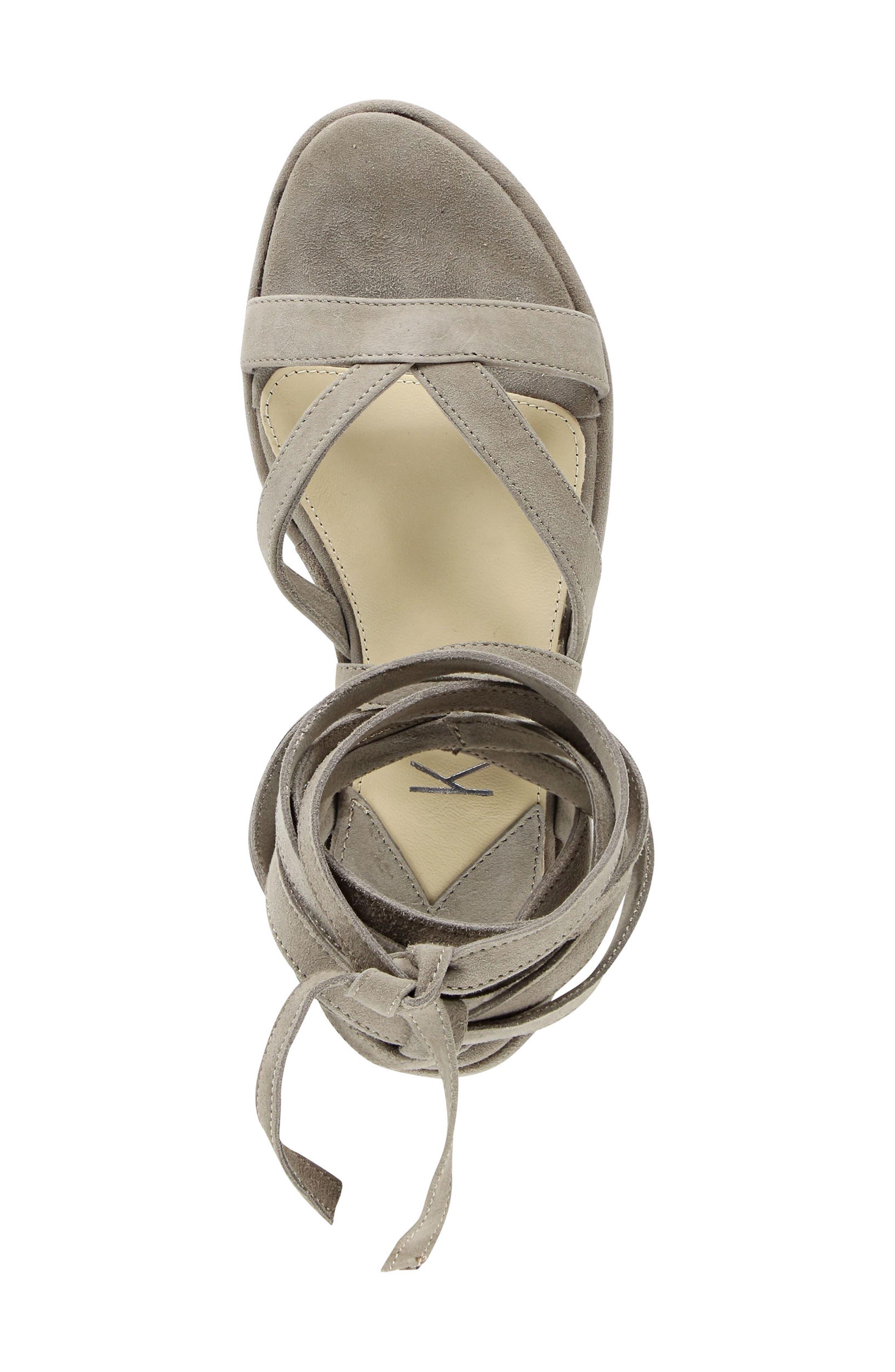 Keri Gladiator Platform Sandal,                             Alternate thumbnail 6, color,                             Camel Suede