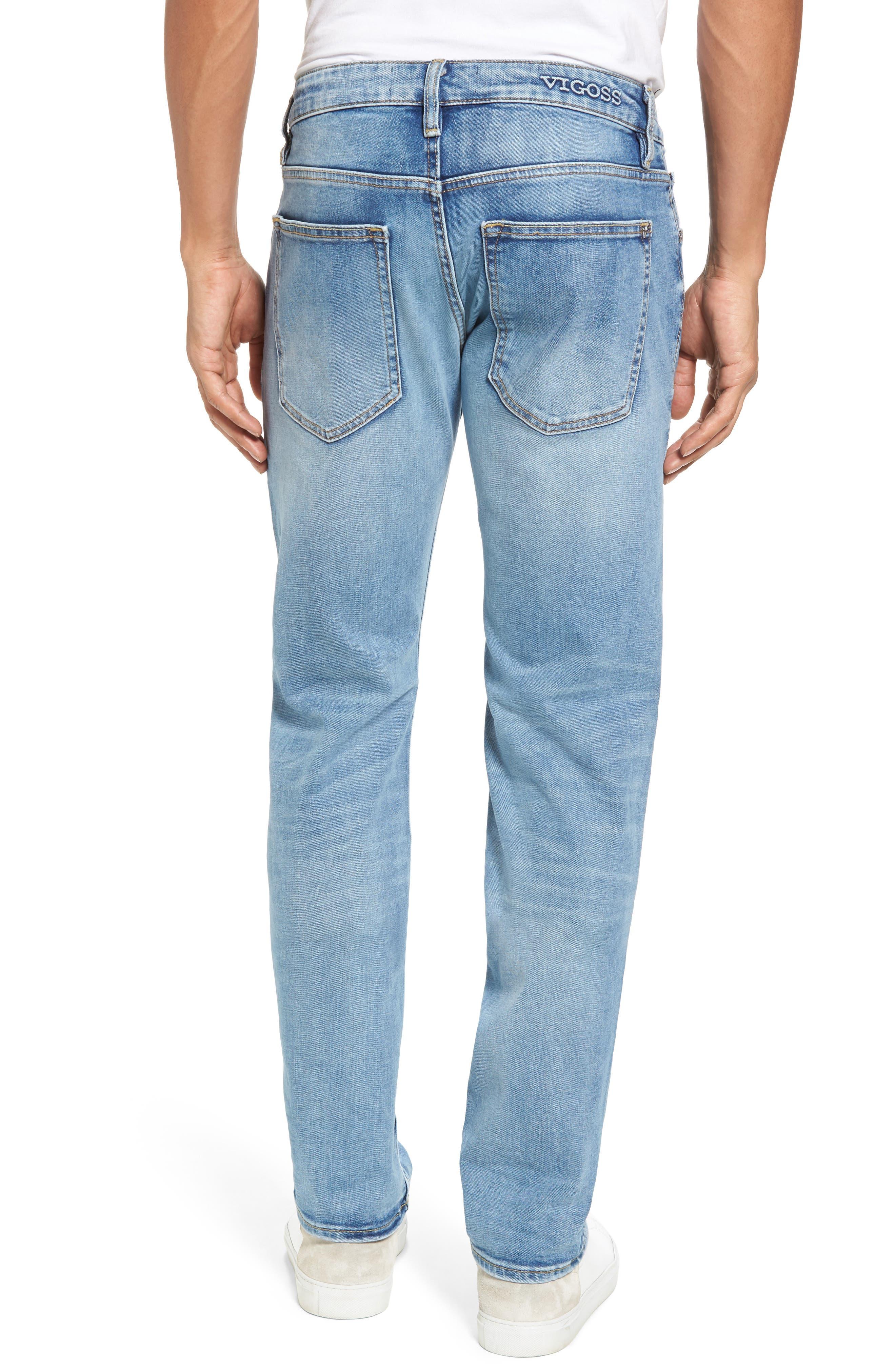 Alternate Image 2  - Vigoss Slim Straight Leg Jeans (Light Wash)