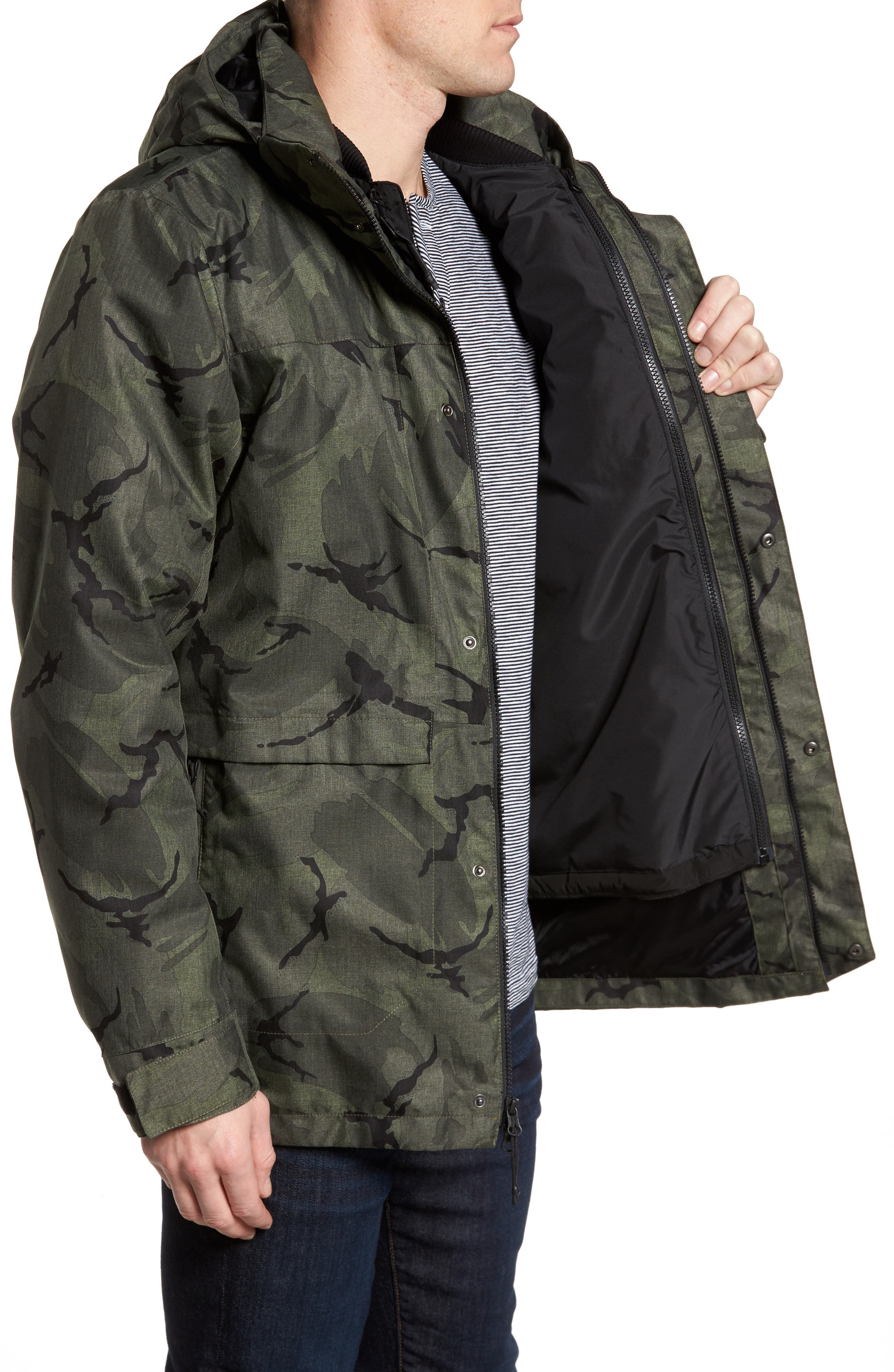 Outer Boroughs 3-in-1 TriClimate<sup>®</sup> Waterproof Parka,                             Alternate thumbnail 4, color,                             New Taupe Green Disrupt