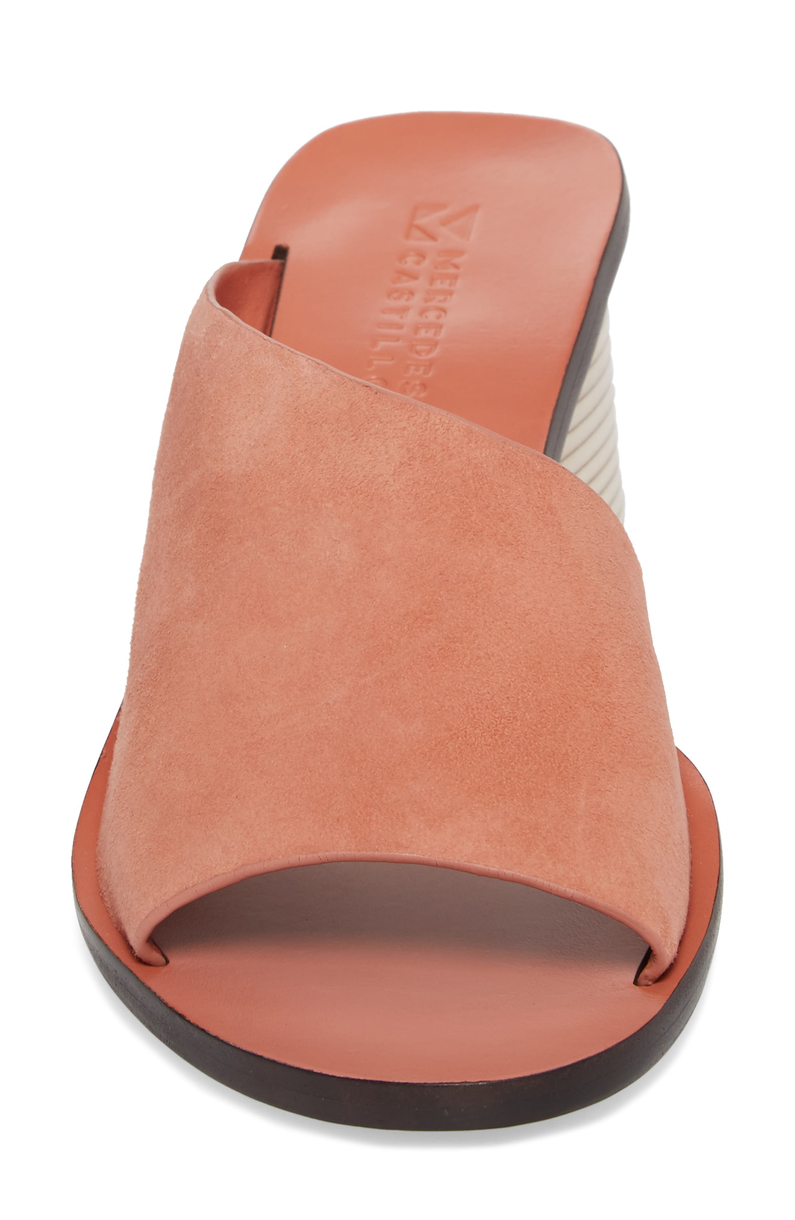Izar Slide Sandal,                             Alternate thumbnail 4, color,                             Rose Suede