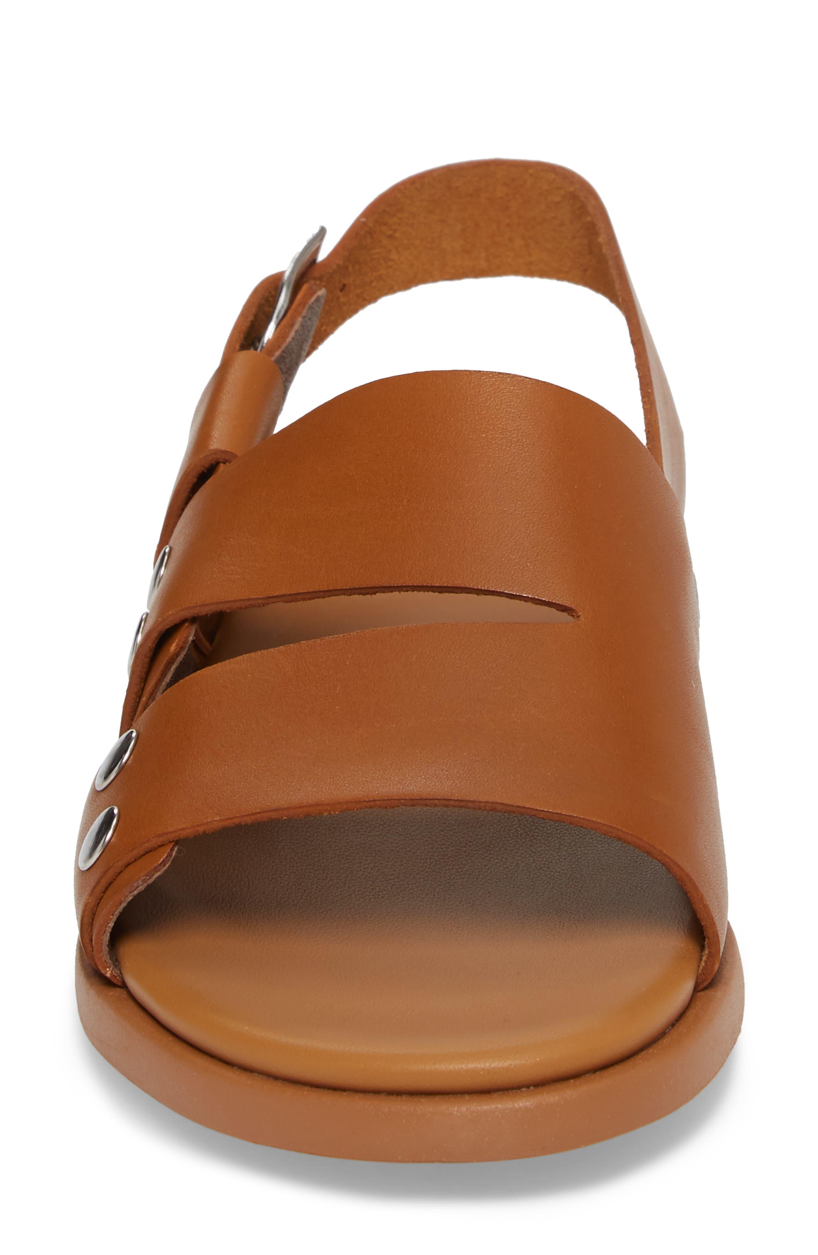Edy Slingback Sandal,                             Alternate thumbnail 4, color,                             Rust/ Copper Leather