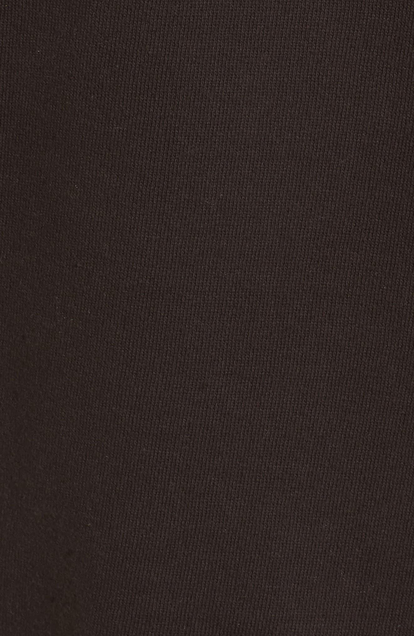 x Donald Robertson Stripe Dresses High/Low Hoodie,                             Alternate thumbnail 5, color,                             Black