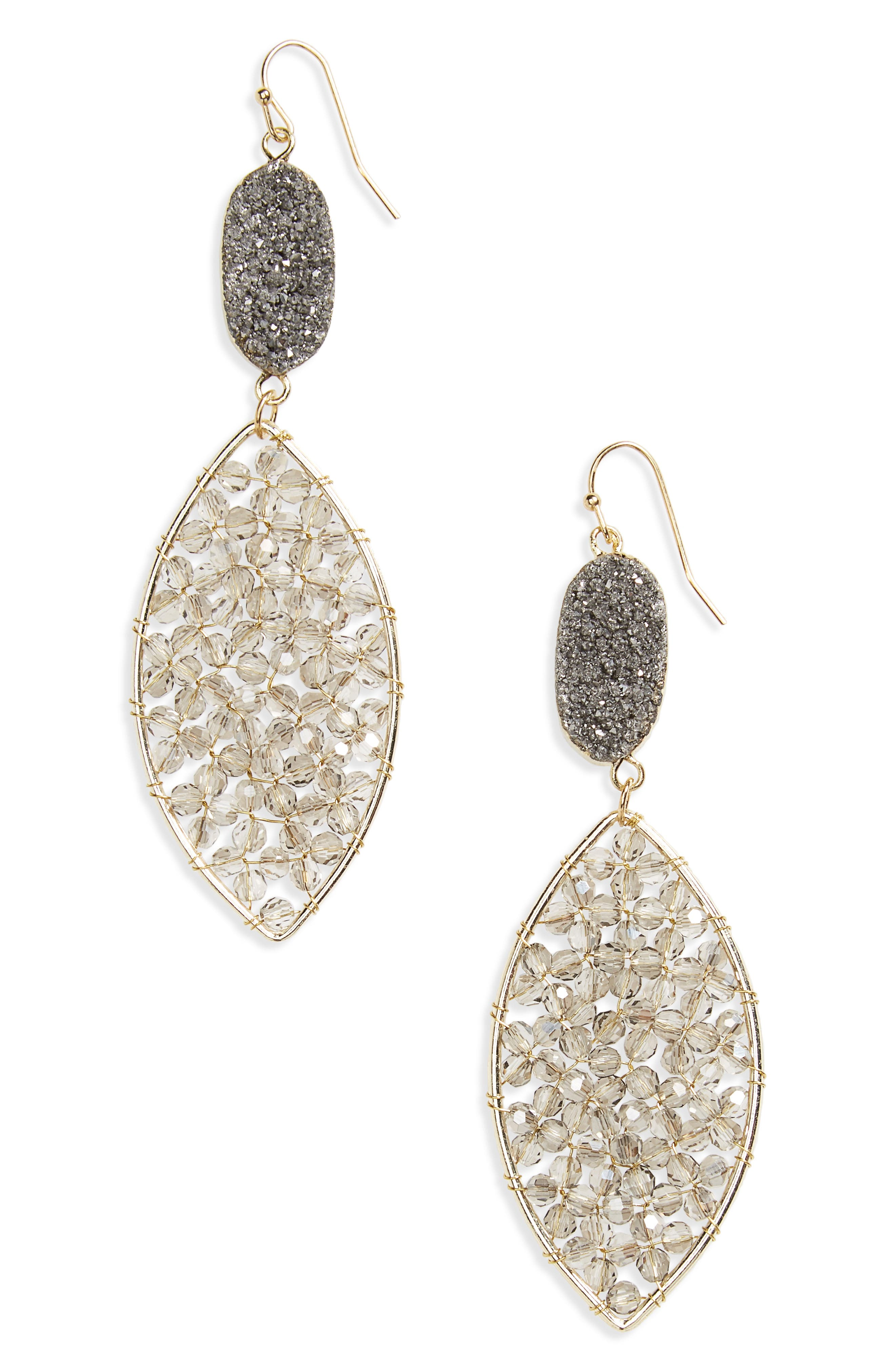 Main Image - Panacea Drusy Crystal Earrings