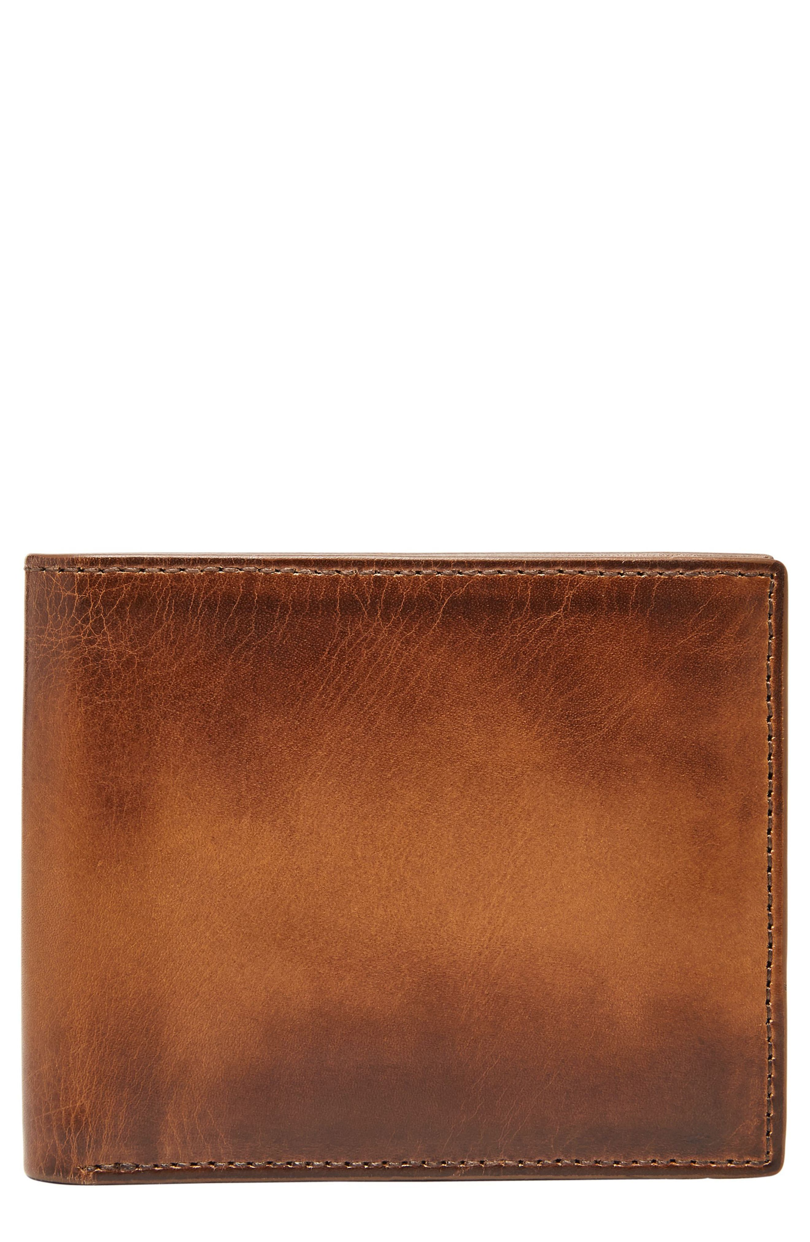 Paul Leather Wallet,                             Main thumbnail 1, color,                             Cognac