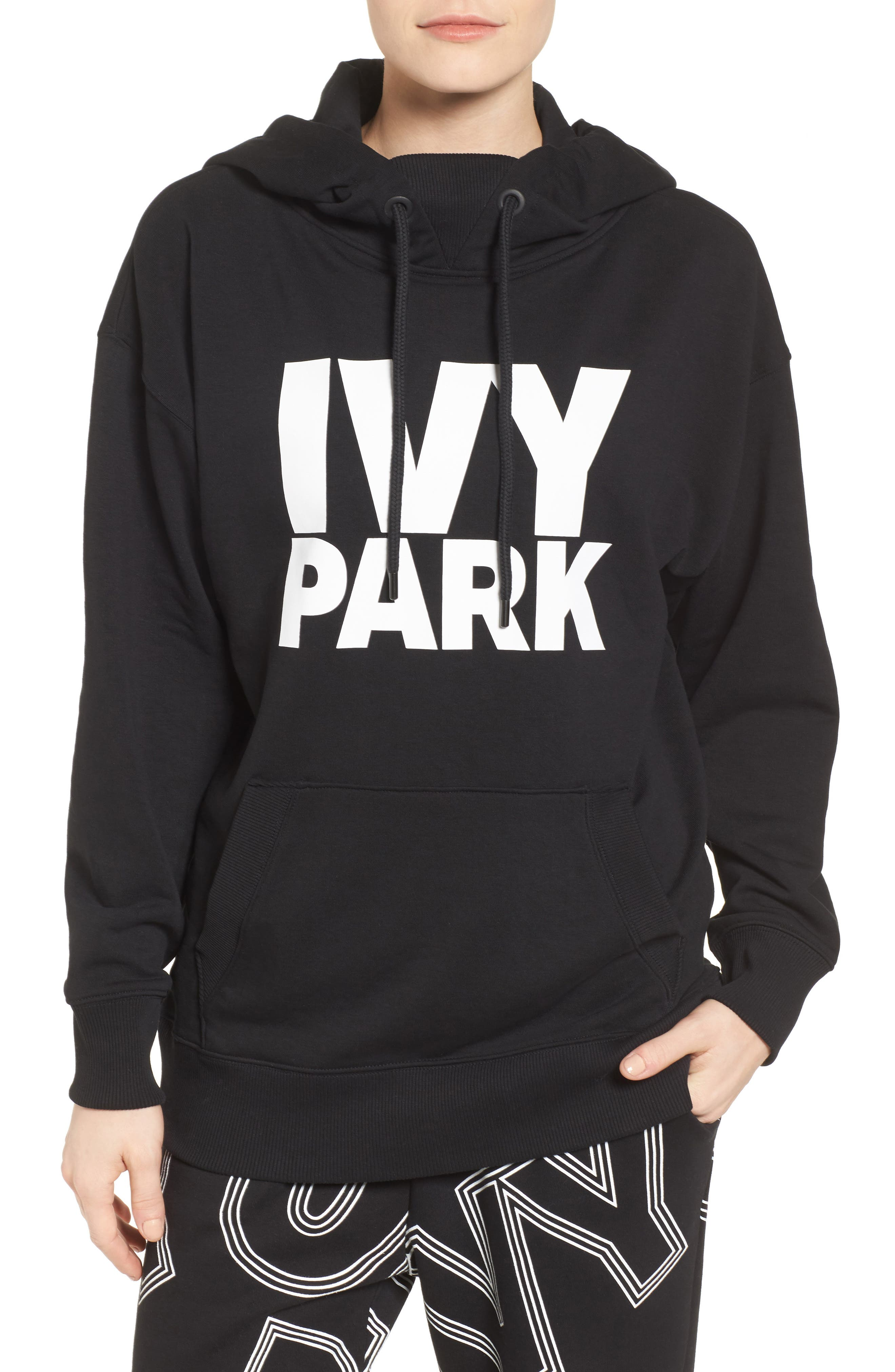Logo Hoodie,                         Main,                         color, Black
