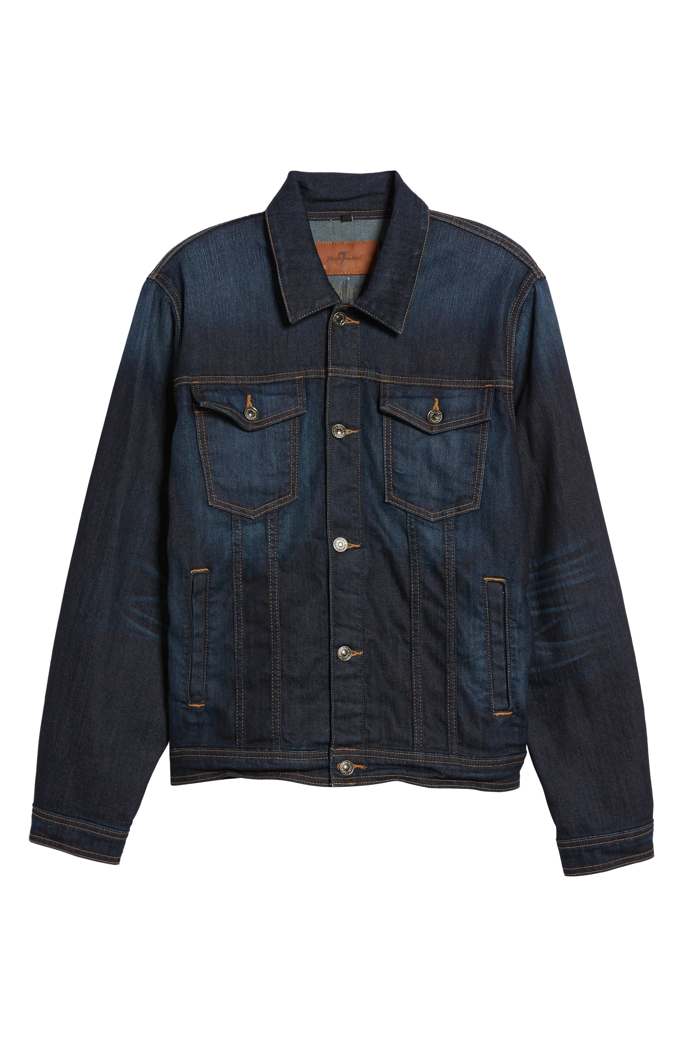 Denim Jacket,                             Alternate thumbnail 6, color,                             Melrose Vintage