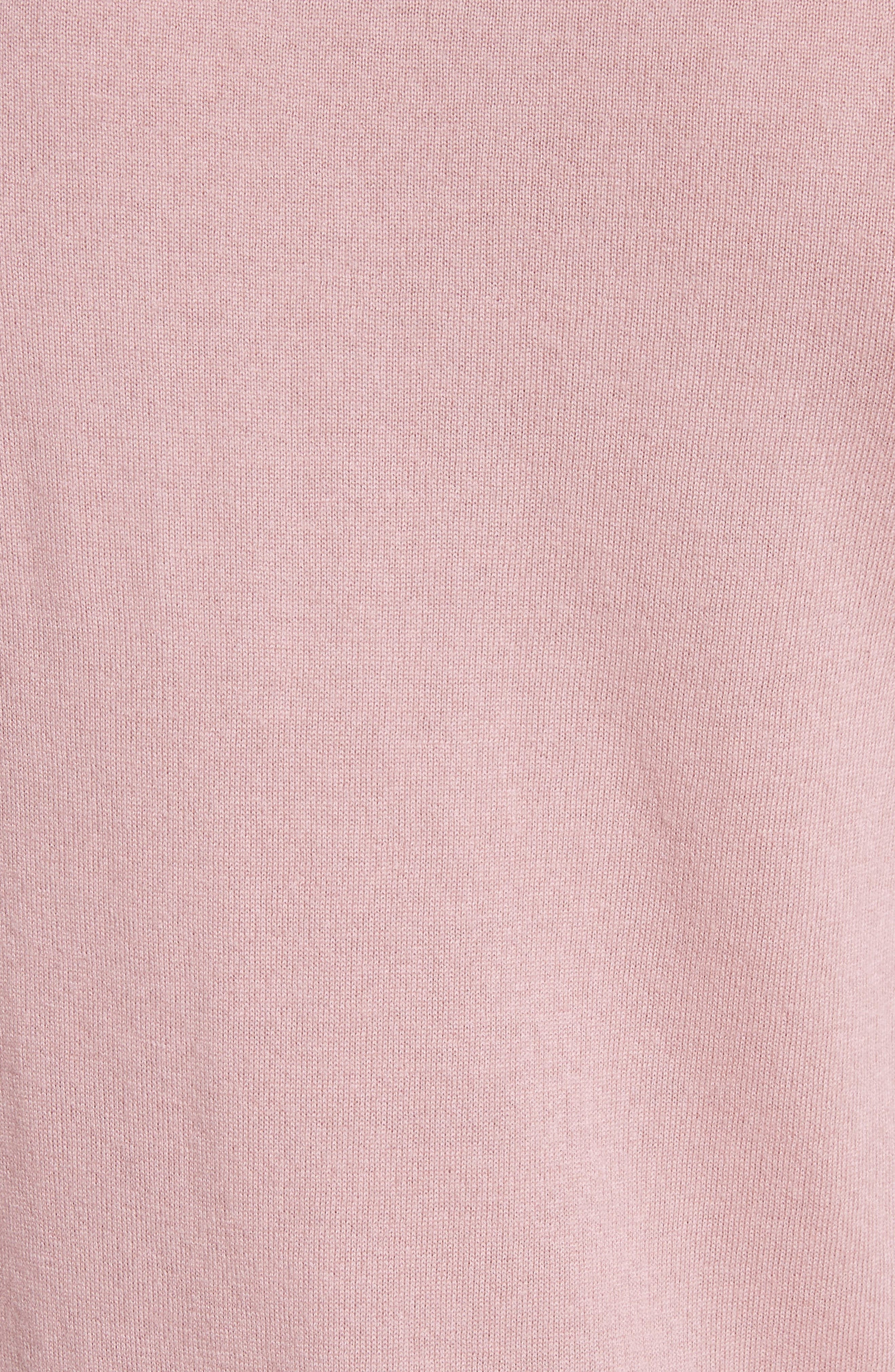 Cashmere Long Sleeve T-Shirt,                             Alternate thumbnail 5, color,                             Pink