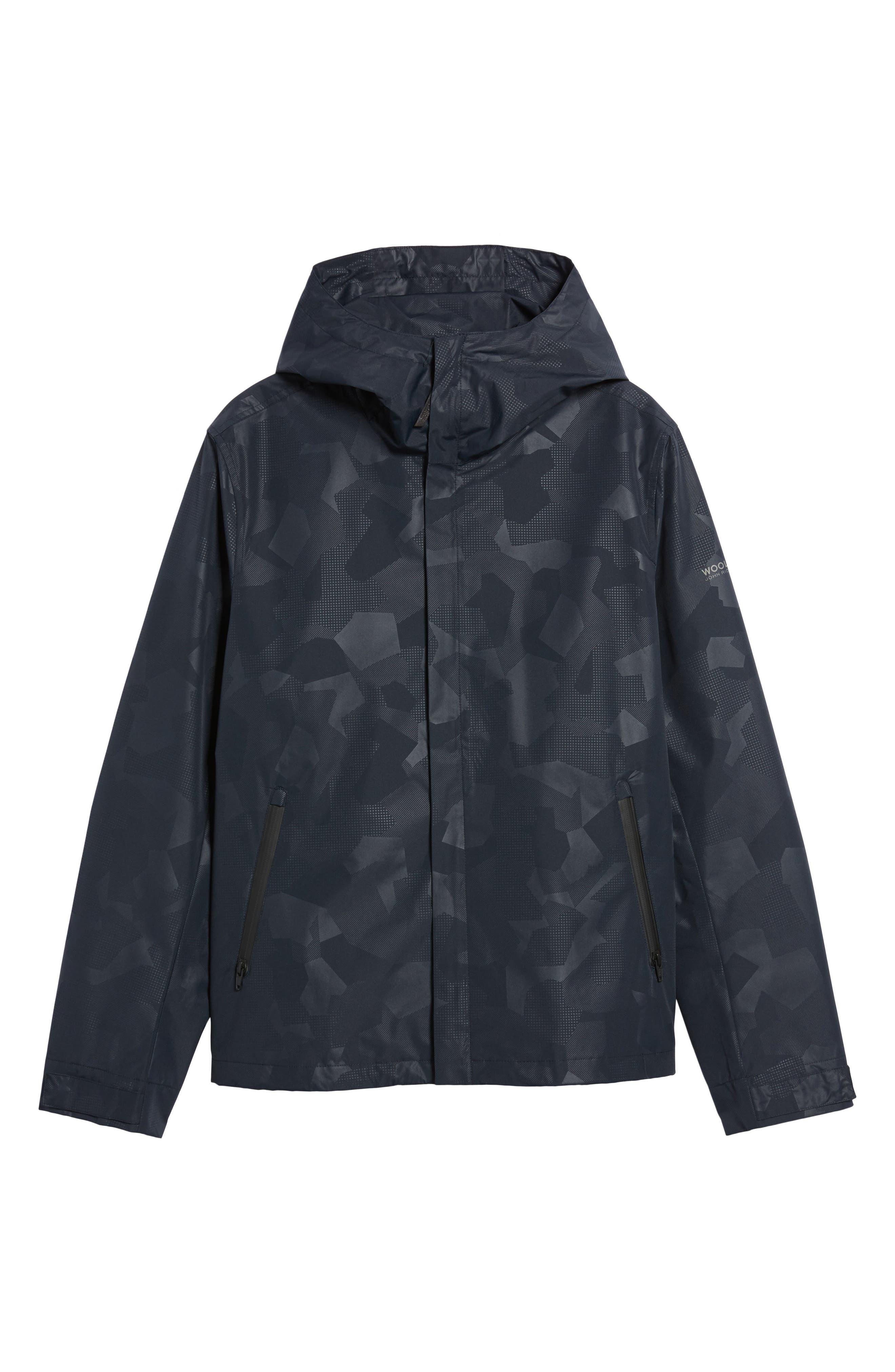John Rich & Bros. Atlantic Camo Hooded Jacket,                             Alternate thumbnail 6, color,                             Melton Blue Camo