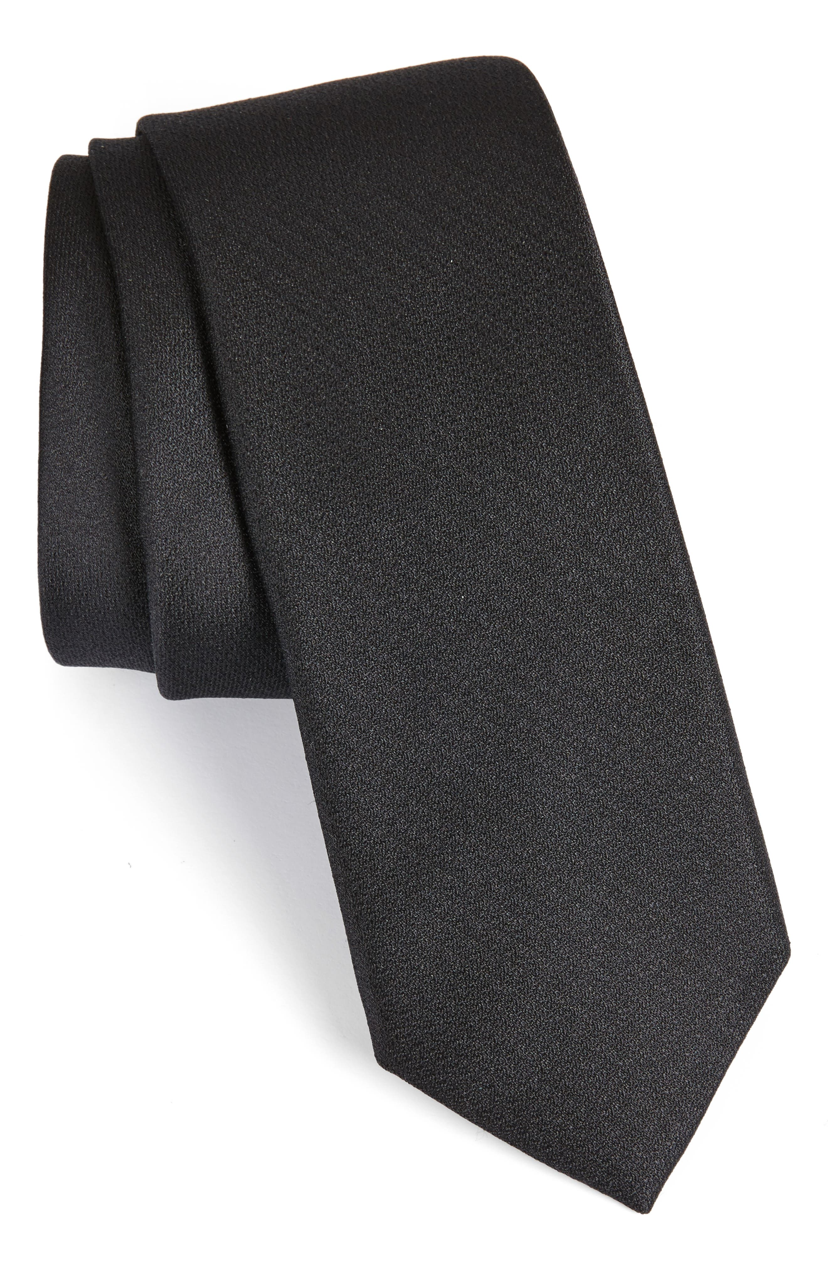 Calibrate Clara Solid Silk Skinny Tie