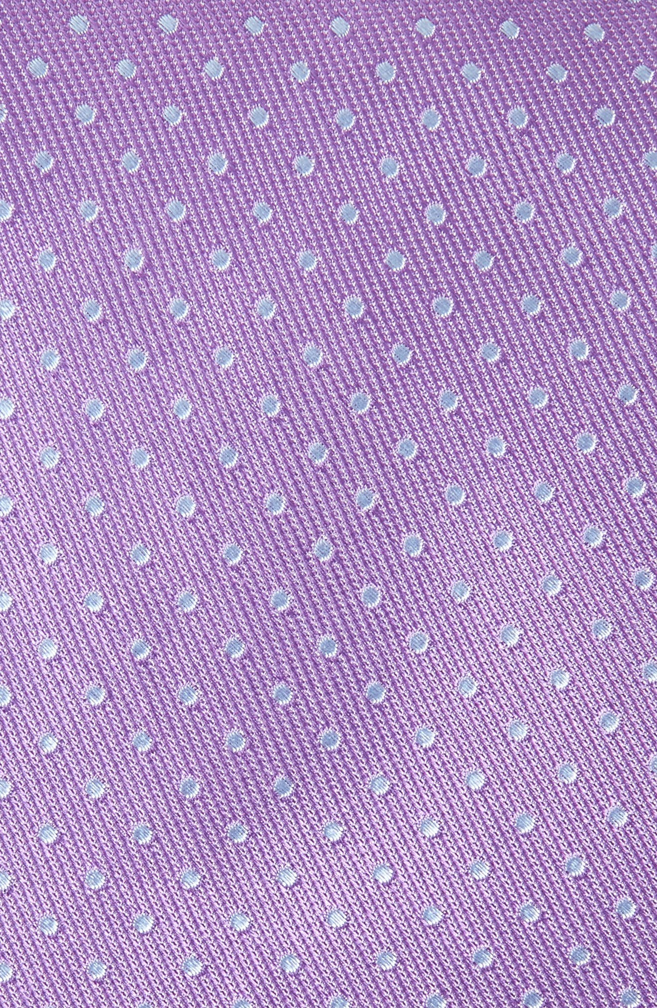 Sturridge Dot Silk Tie,                             Alternate thumbnail 2, color,                             Purple