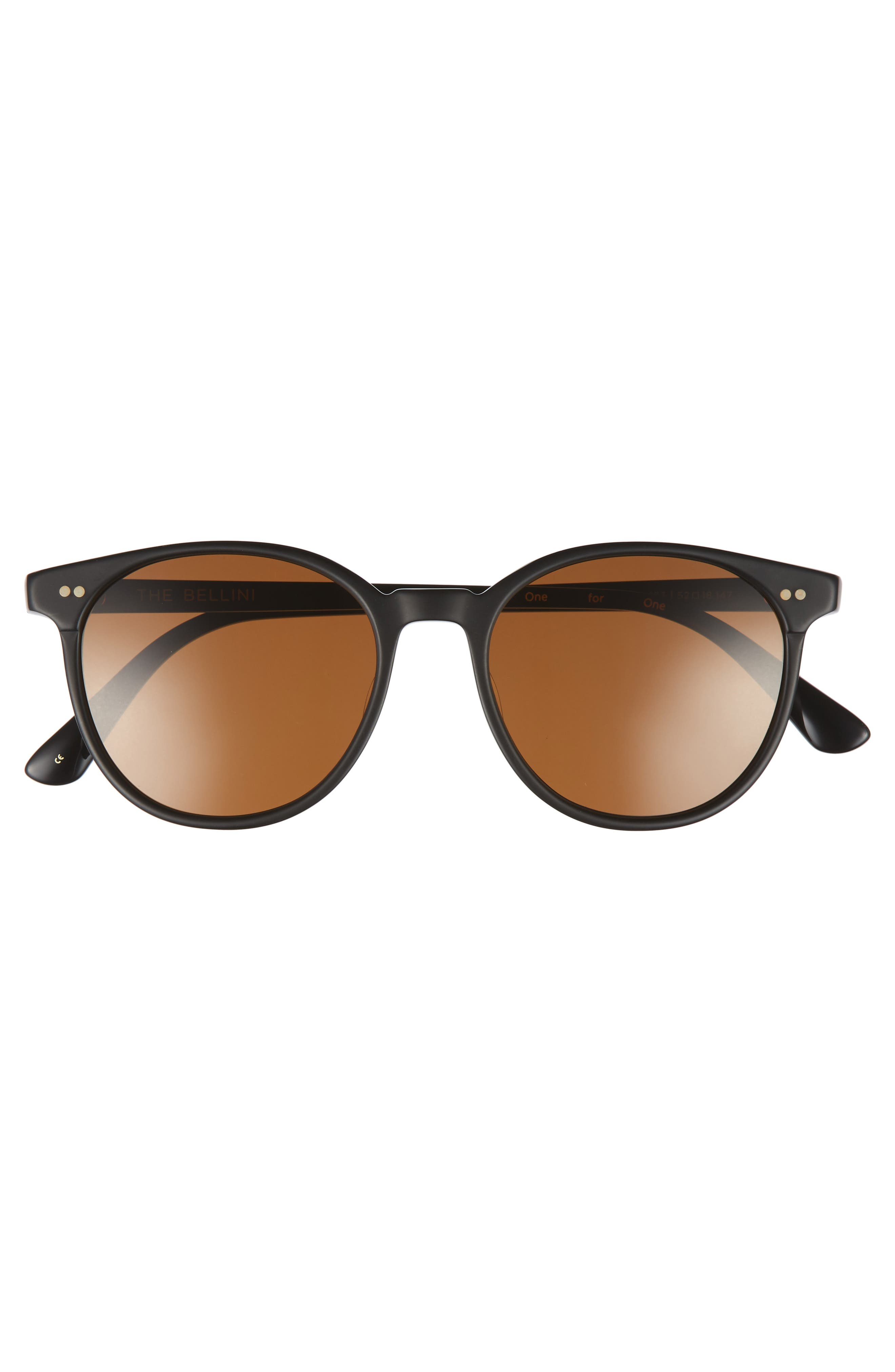 Bellini 52mm Sunglasses,                             Alternate thumbnail 2, color,                             Matte Black