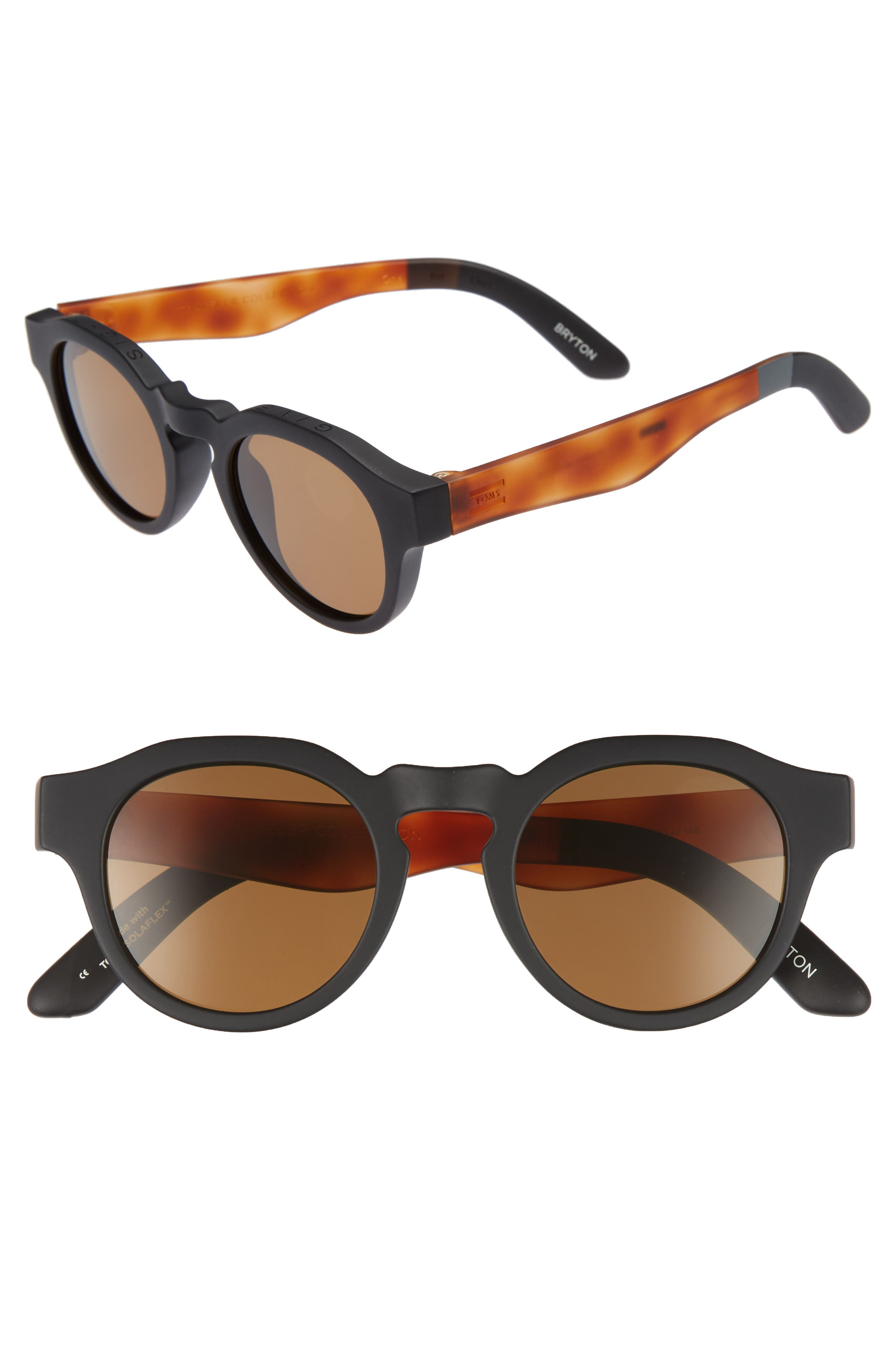TOMS Bryton 48mm Polarized Sunglasses