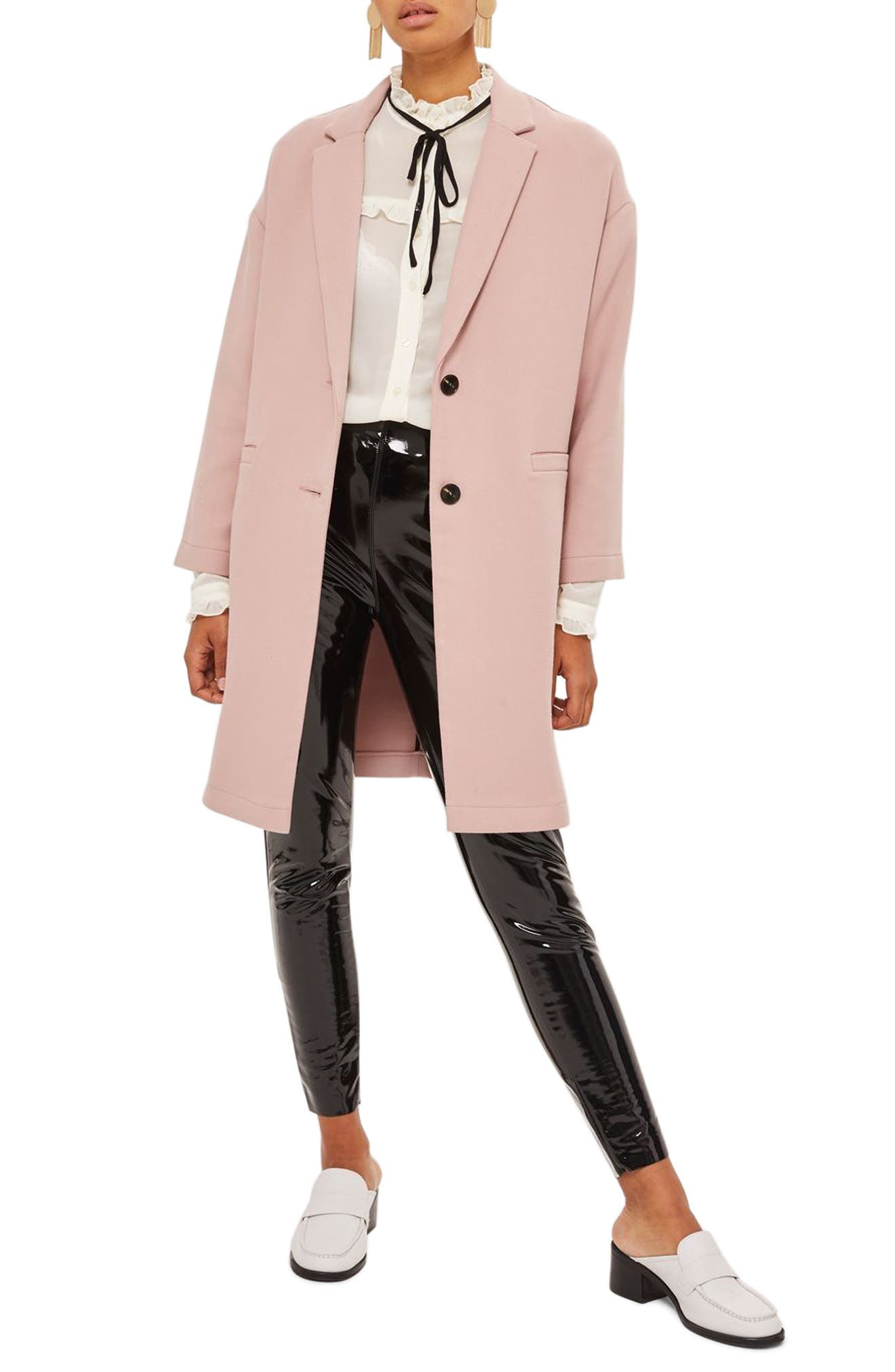 Topshop Twill Ponte Topcoat