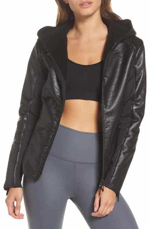 ALALA Fleece Lined Faux Leather Jacket