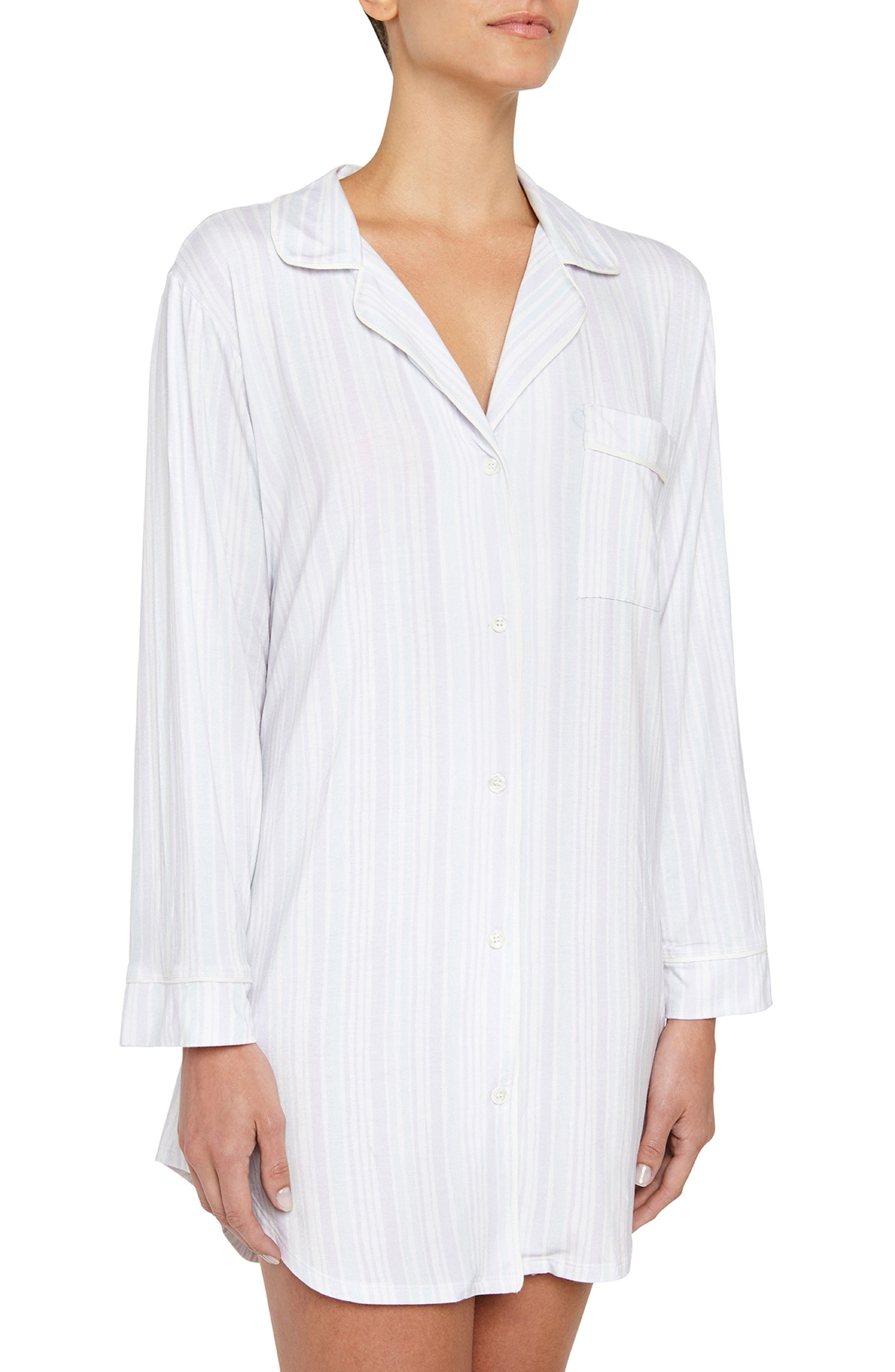 Painted Stripes Sleep Shirt,                         Main,                         color, Multi