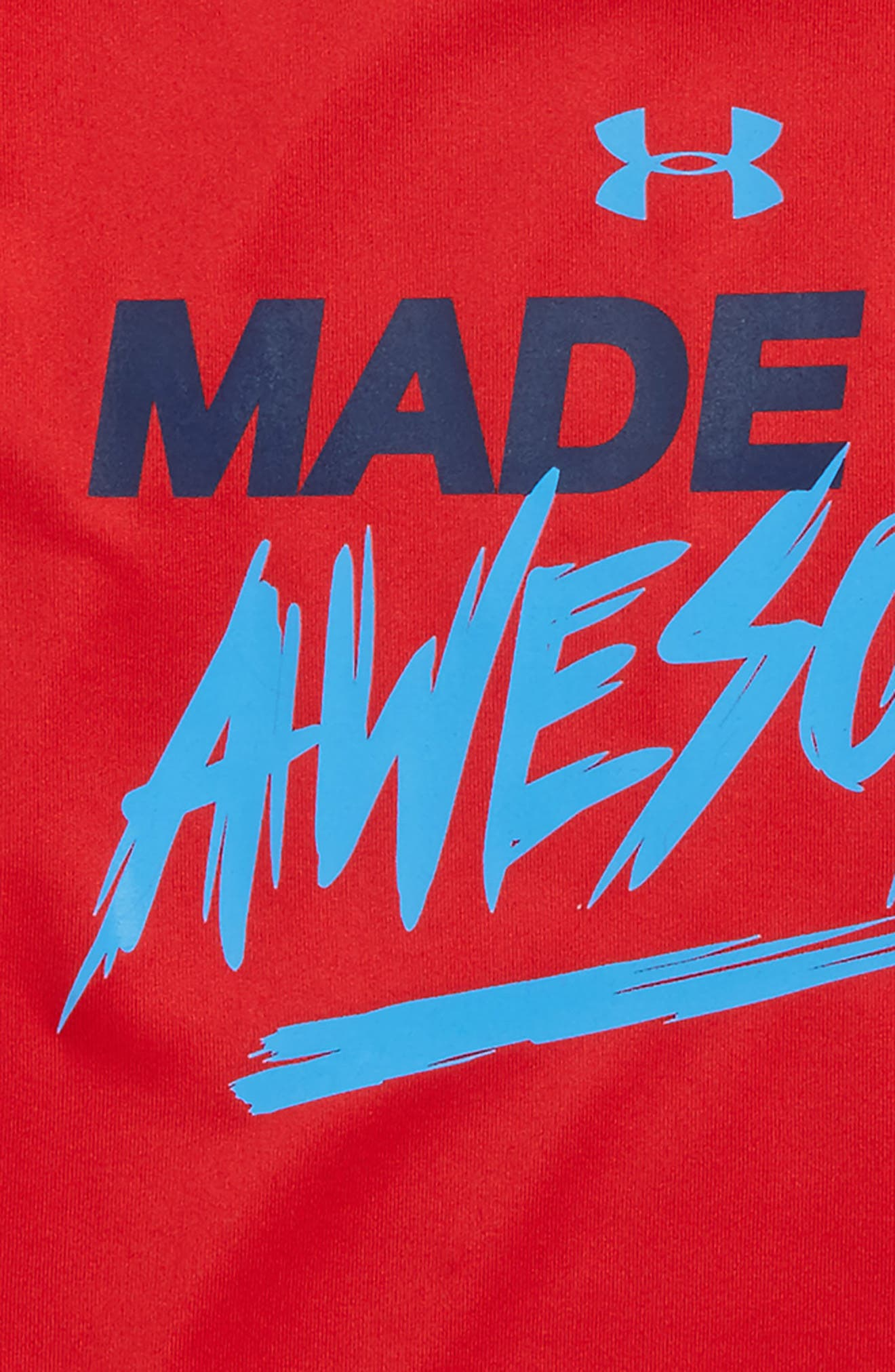 Made of Awesome HeatGear<sup>®</sup> T-Shirt,                             Alternate thumbnail 2, color,                             Red