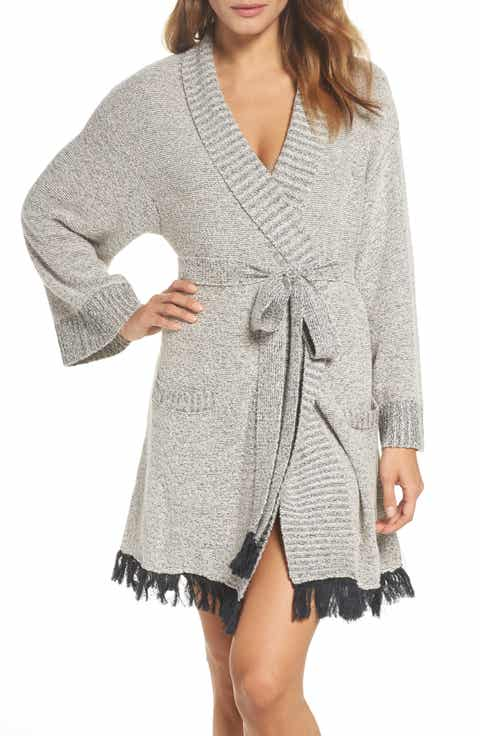 skin Cozy Bouclé Short Robe