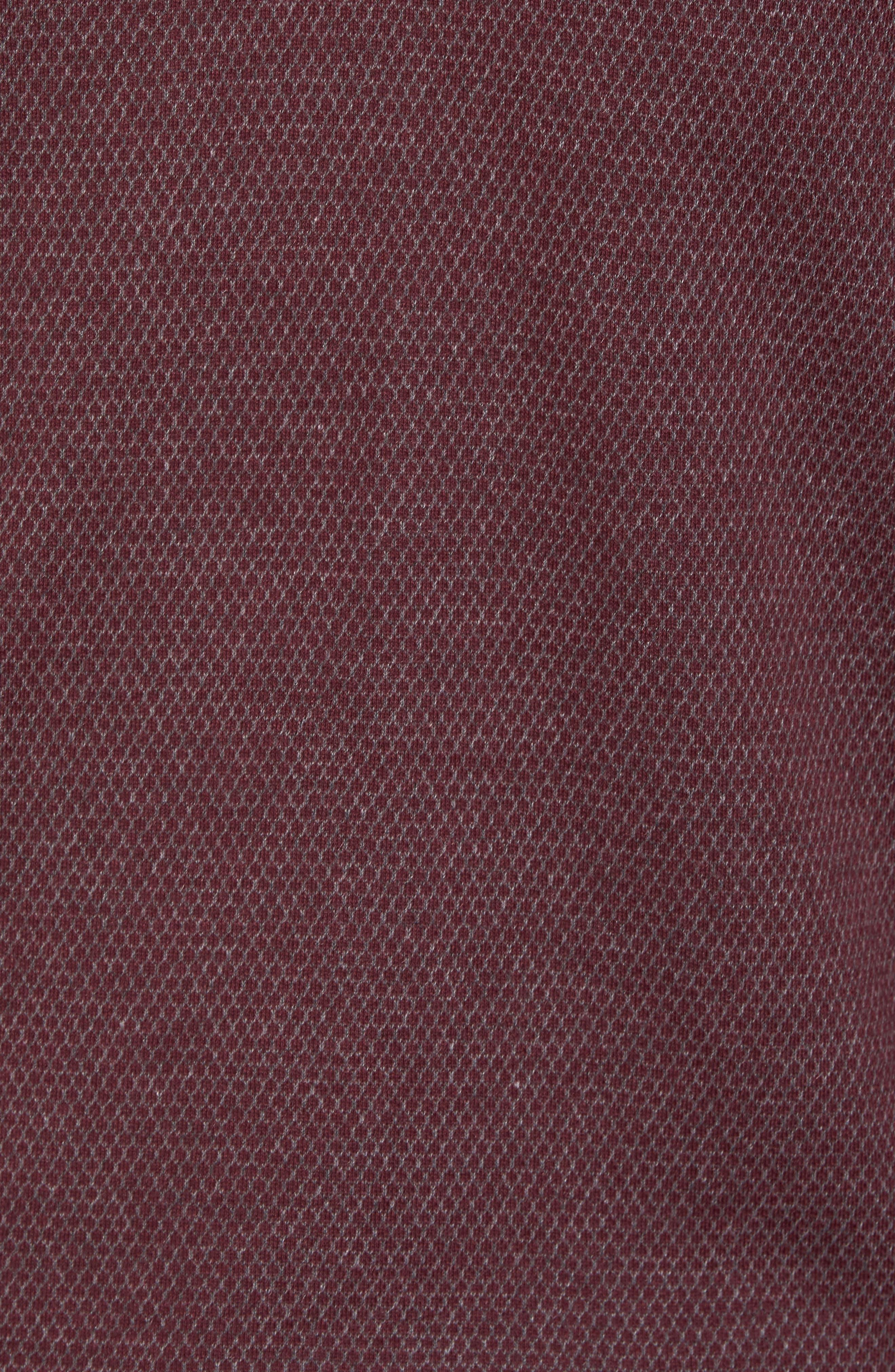 Woolpak Trim Fit Mouliné Polo,                             Alternate thumbnail 5, color,                             Dk Red