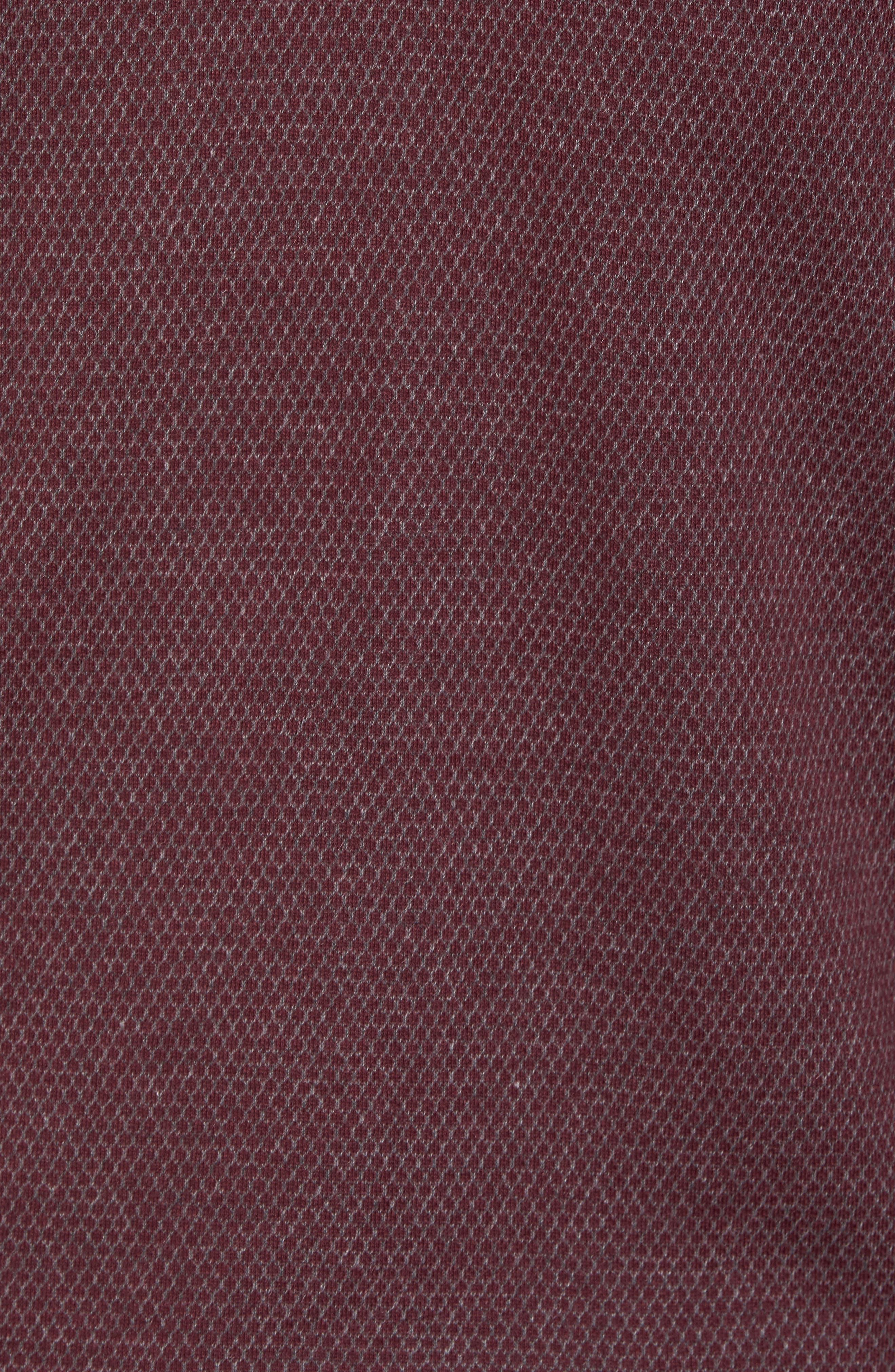 Alternate Image 5  - Ted Baker London Woolpak Trim Fit Mouliné Polo