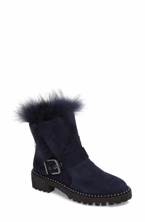 Cecelia New York Theresa Boot with Genuine Fox Fur Trim (Women)