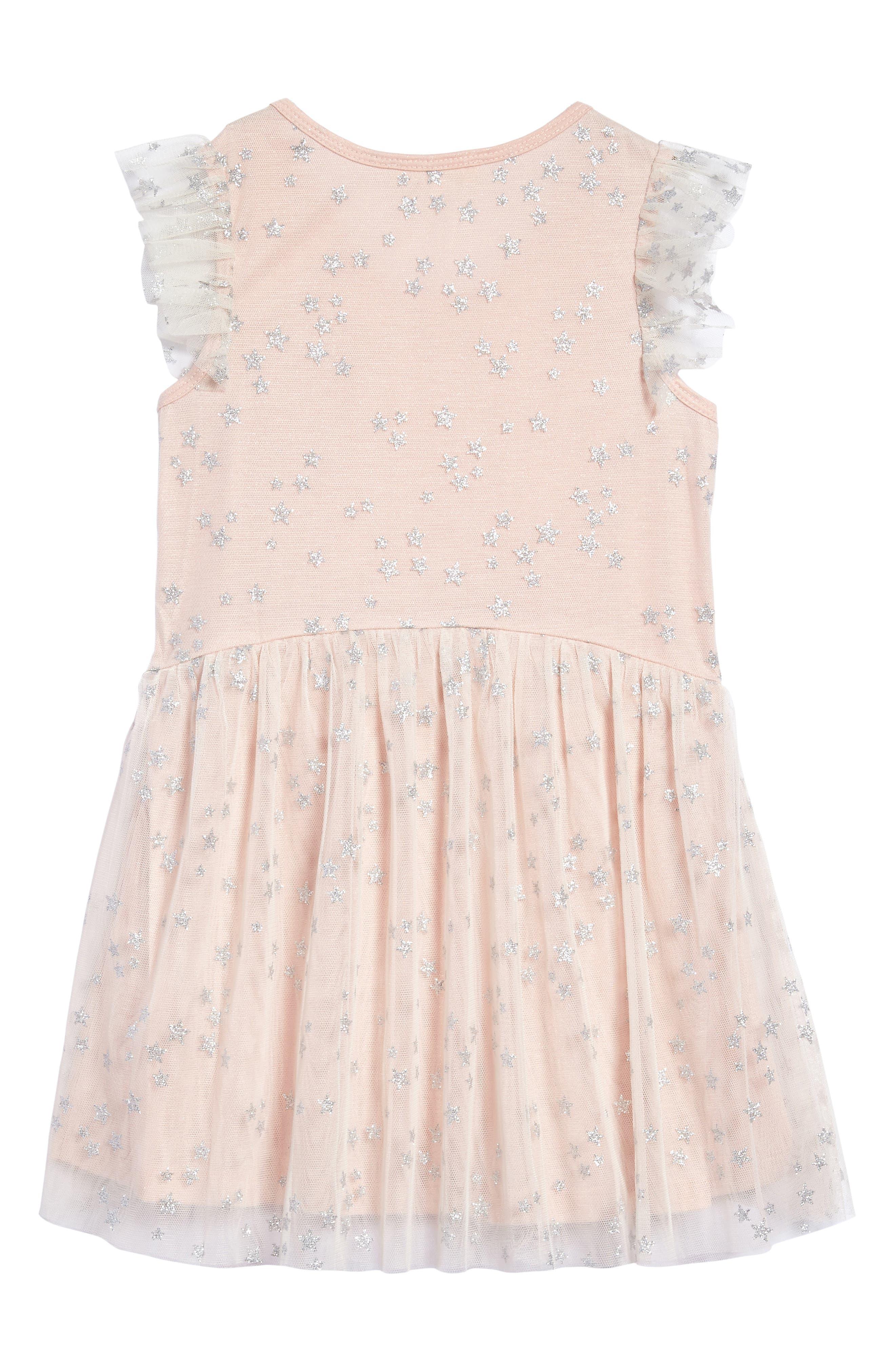 Alternate Image 2  - Truly Me Mesh Star Dress (Toddler Girls & Little Girls)