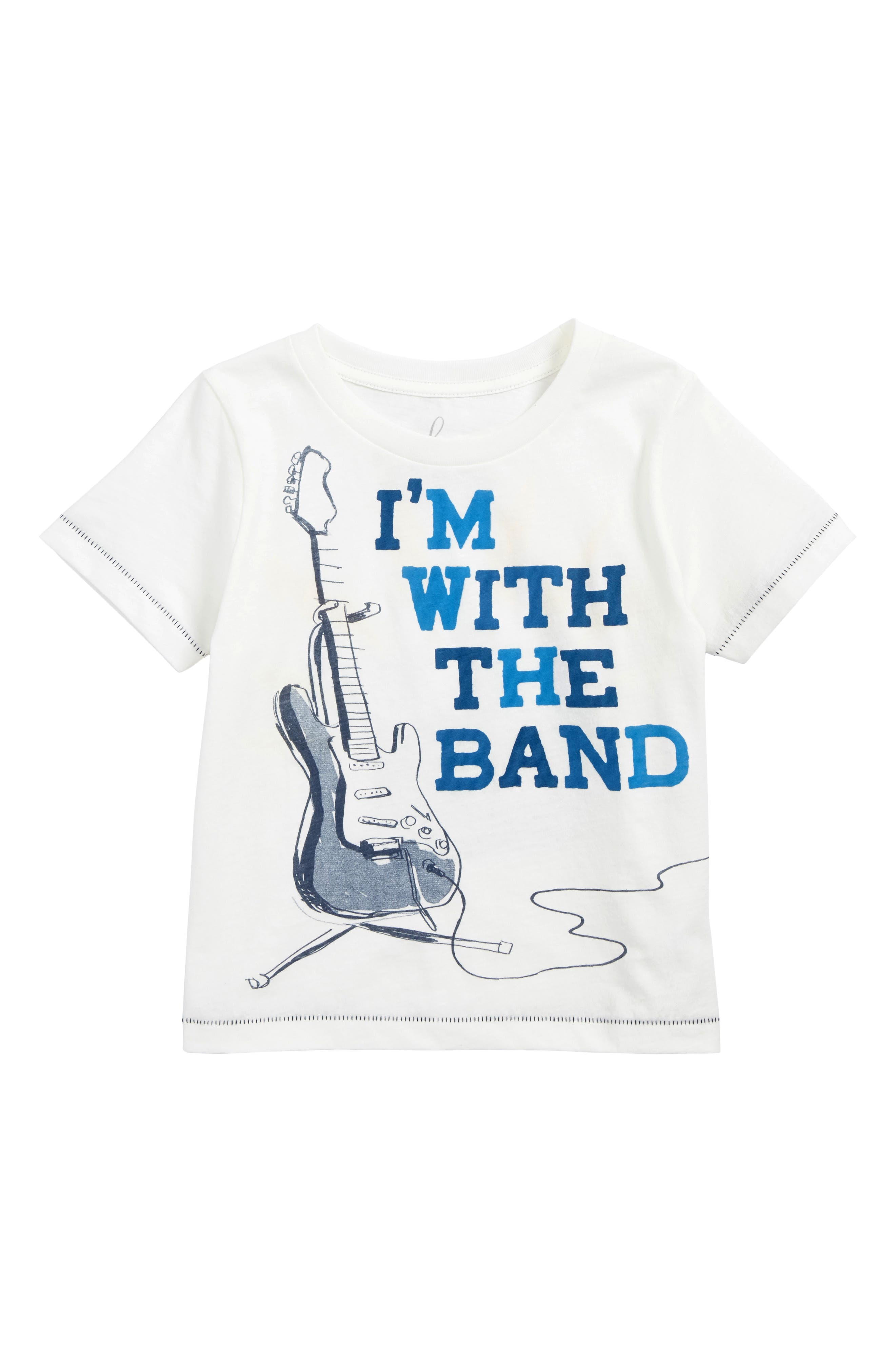 I'm with the Band Graphic T-Shirt,                             Main thumbnail 1, color,                             Ivory
