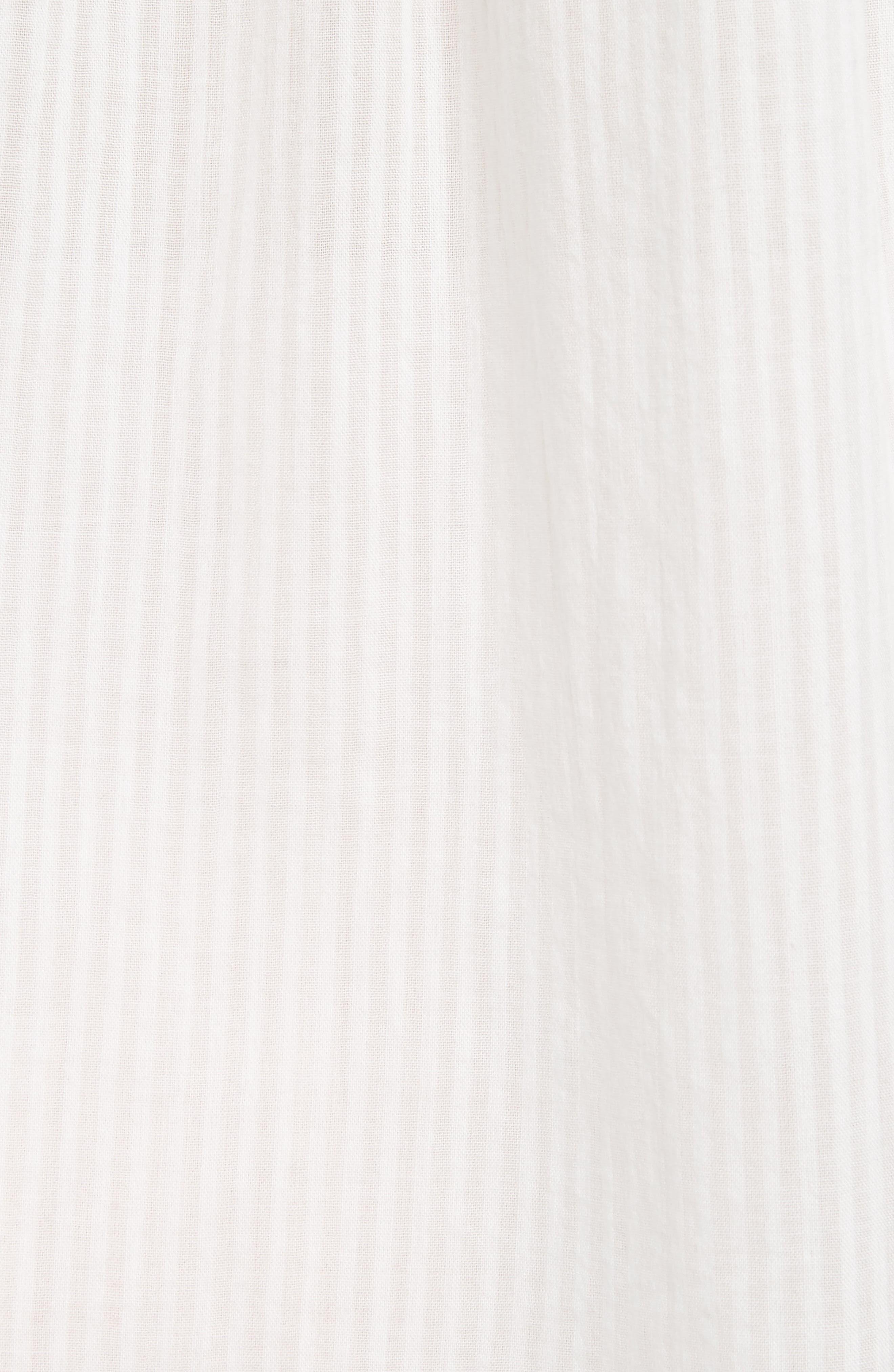 Double Pocket Blouse,                             Alternate thumbnail 5, color,                             Off White