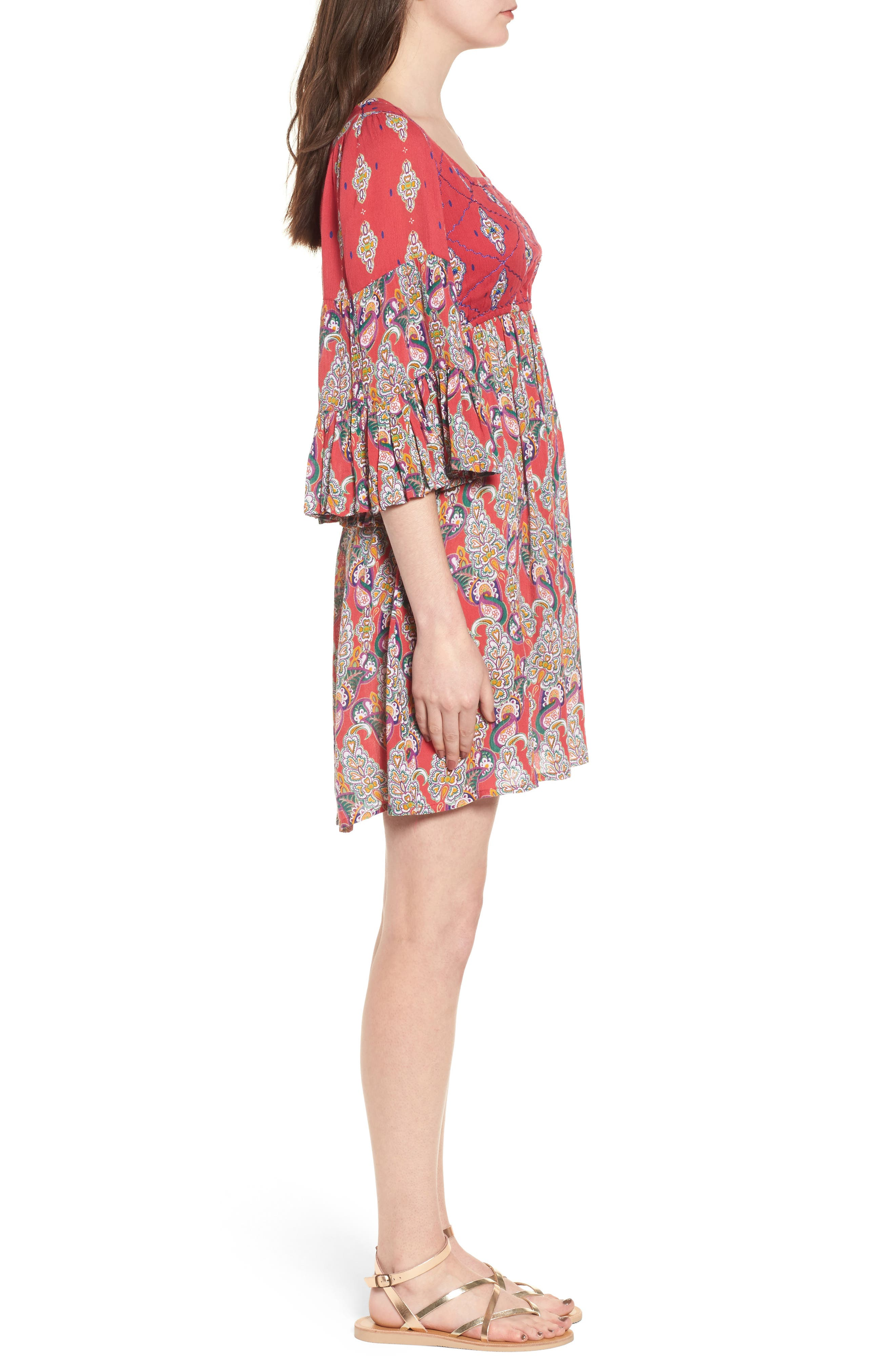 Alternate Image 3  - Raga Alice Bell Sleeve Babydoll Dress