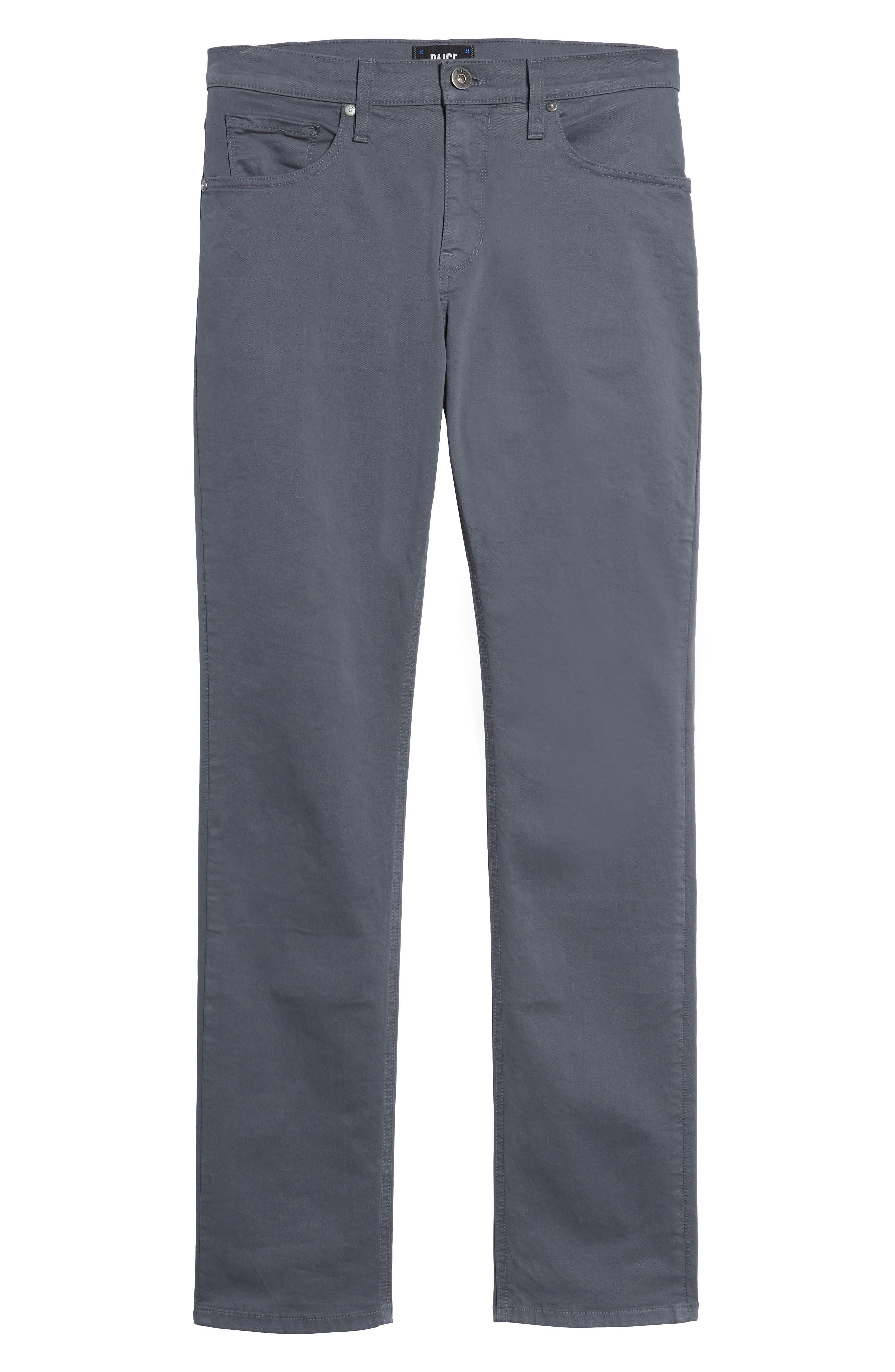 Federal Slim Straight Leg Twill Pants,                             Alternate thumbnail 6, color,                             Moon Shade