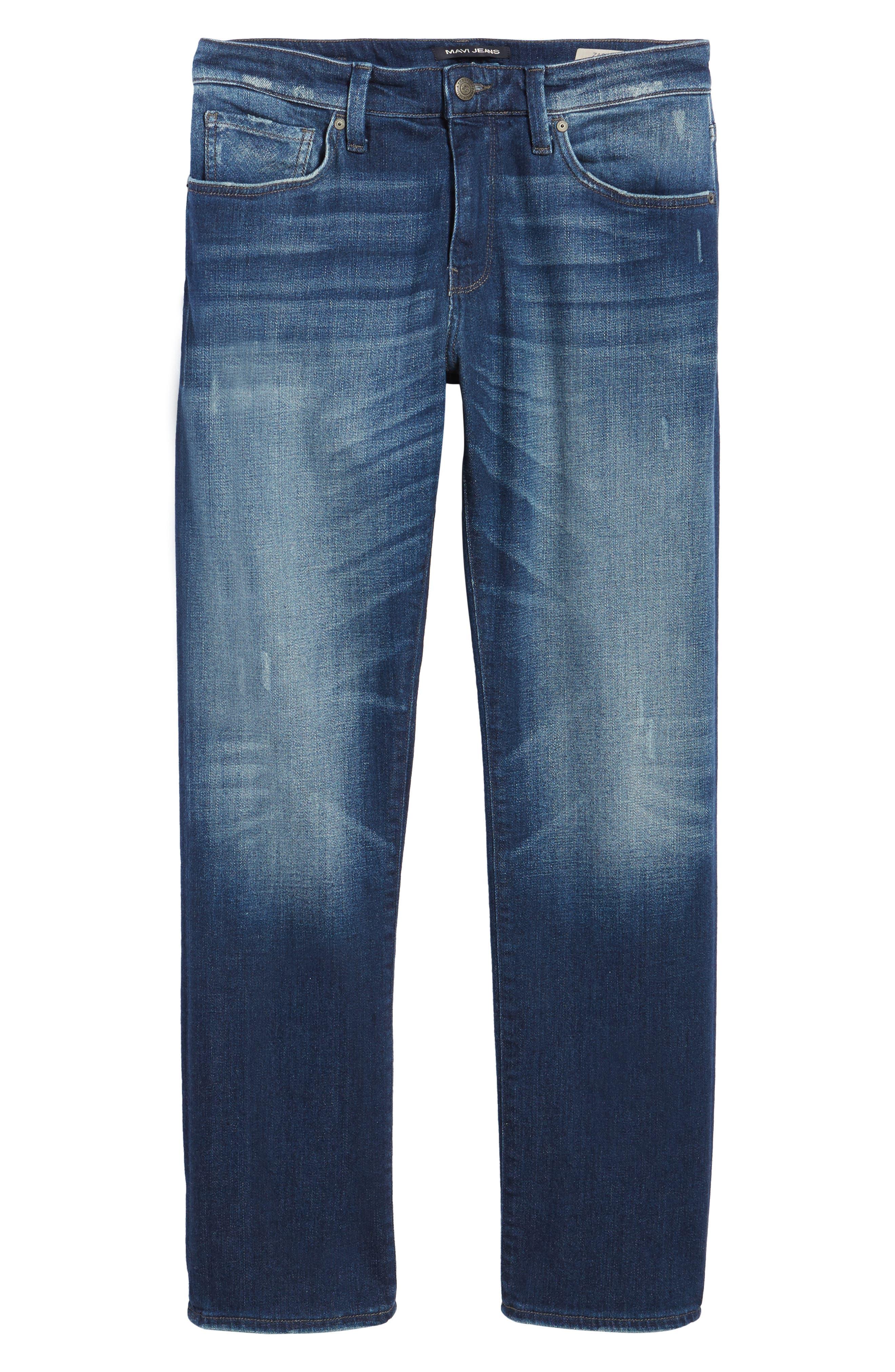Zach Straight Leg Jeans,                             Alternate thumbnail 6, color,                             Dark Brooklyn