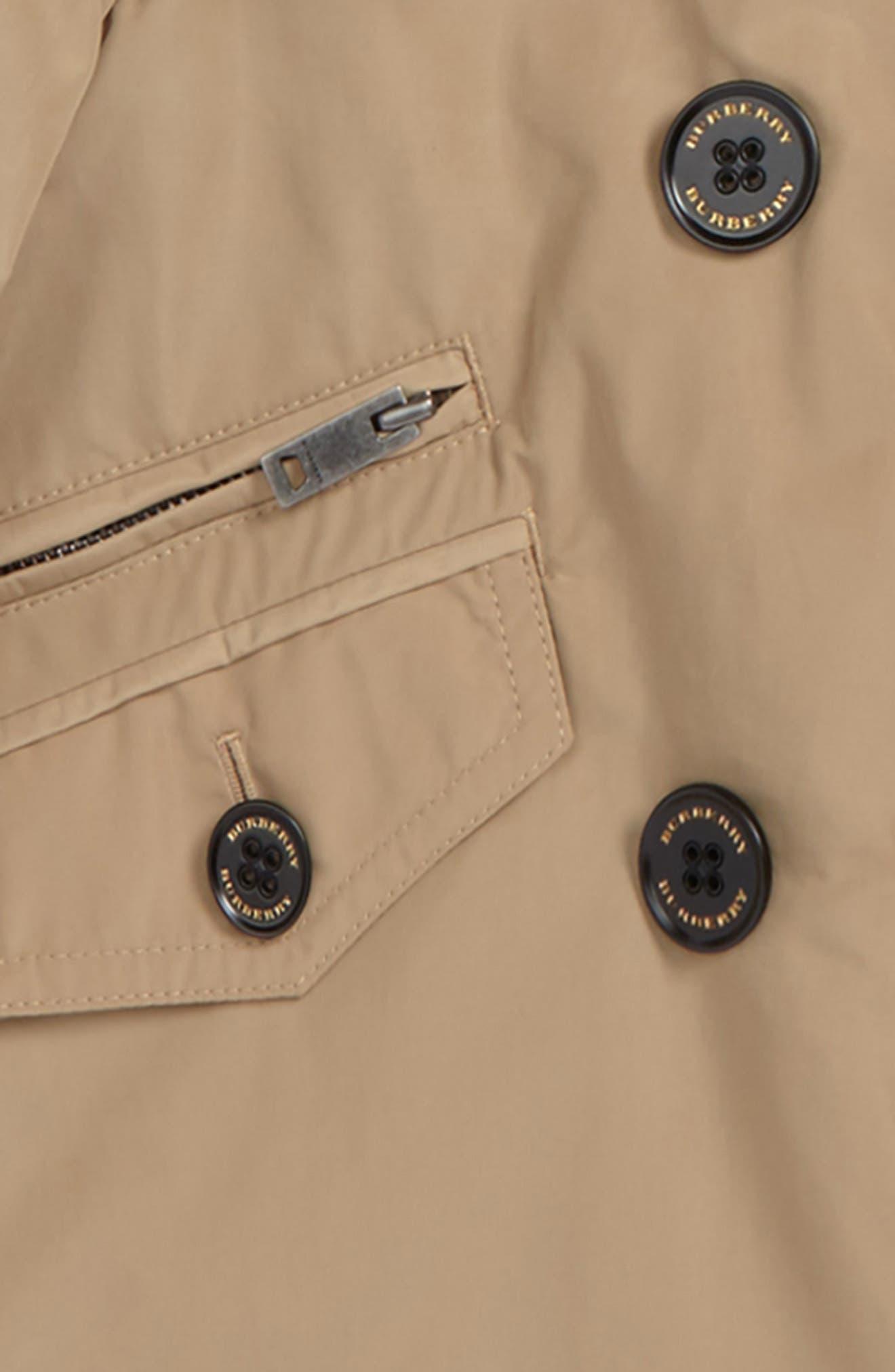 Alternate Image 2  - Burberry Margeretta Hooded Jacket (Little Girls & Big Girls)