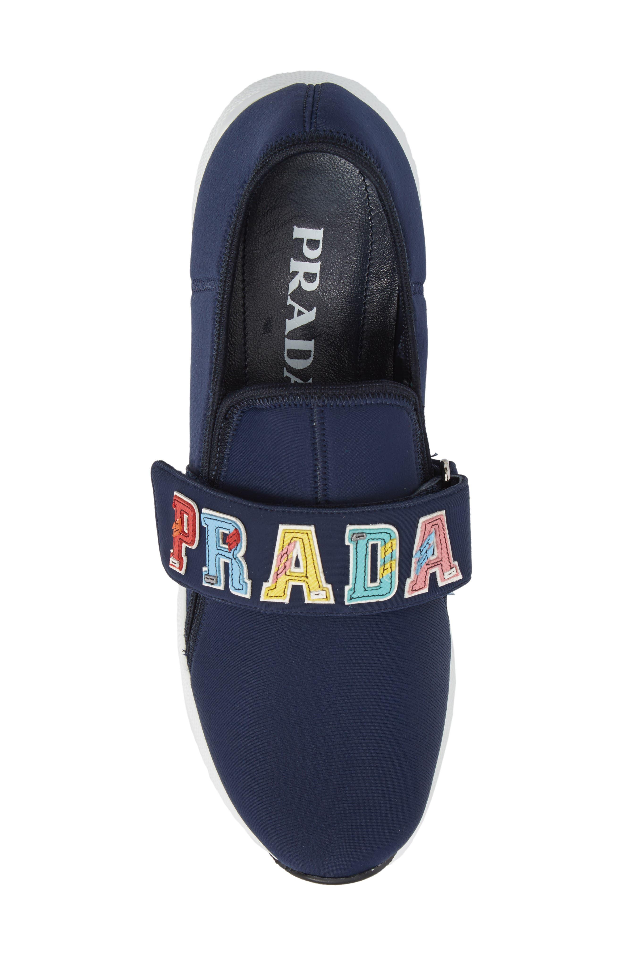 Alternate Image 5  - Prada Logo Strap Low Top Sneaker (Women)
